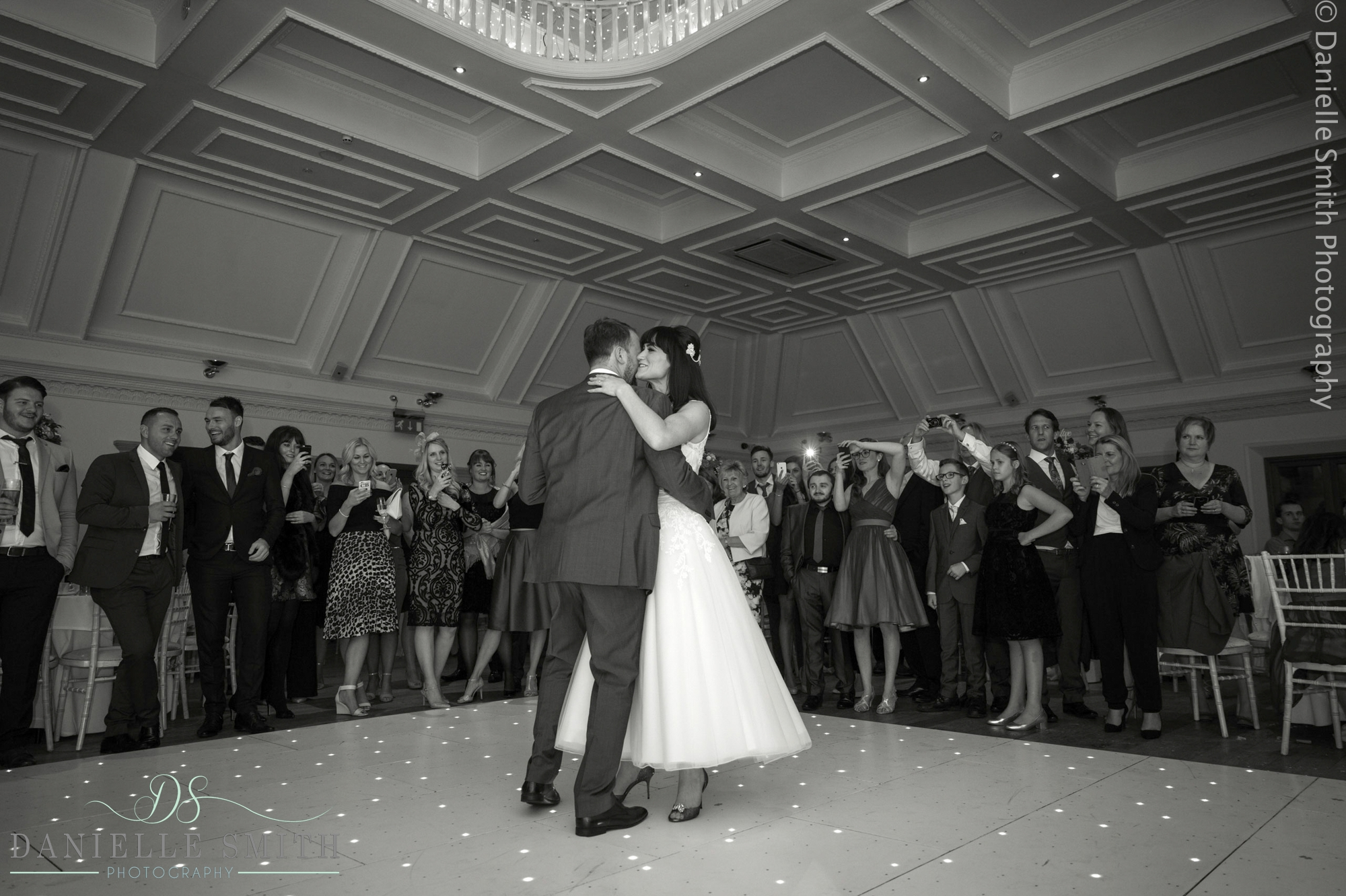 bride and groom first dance - 1920s style wedding