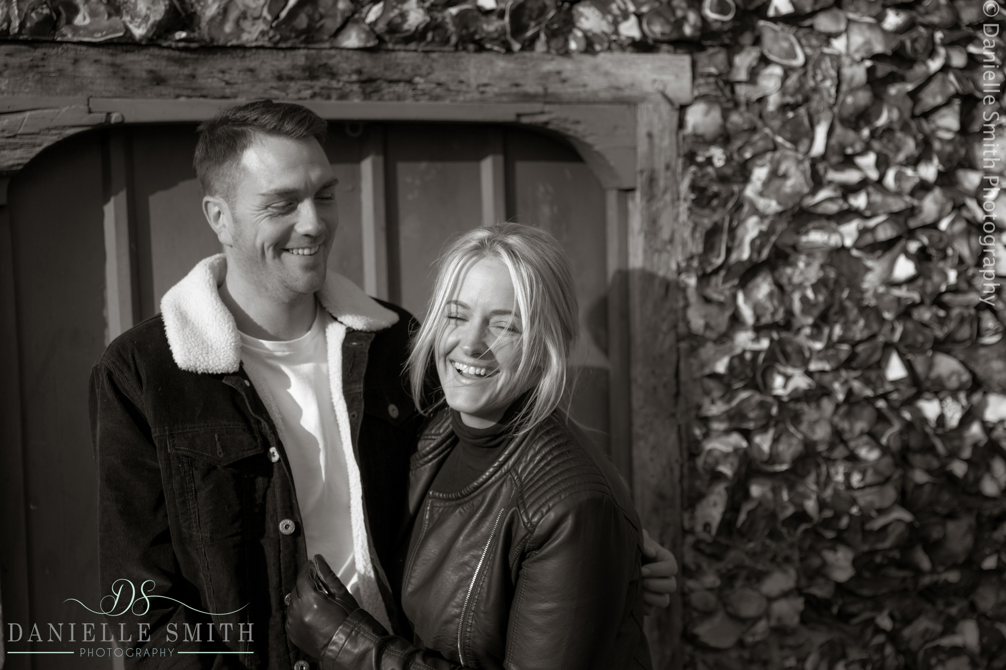 couple laughing -family photography session chelmsford
