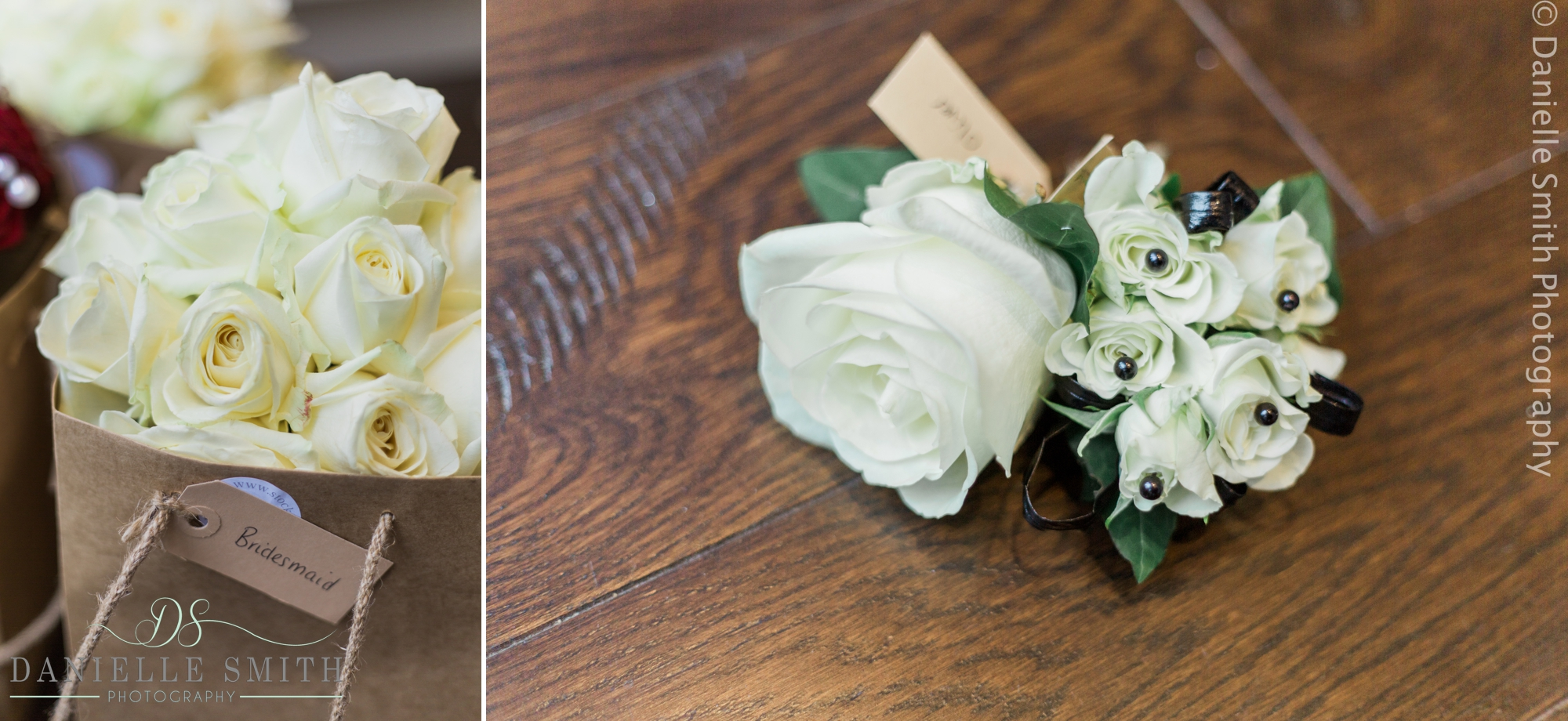 ivory rose wedding flowers and button holes