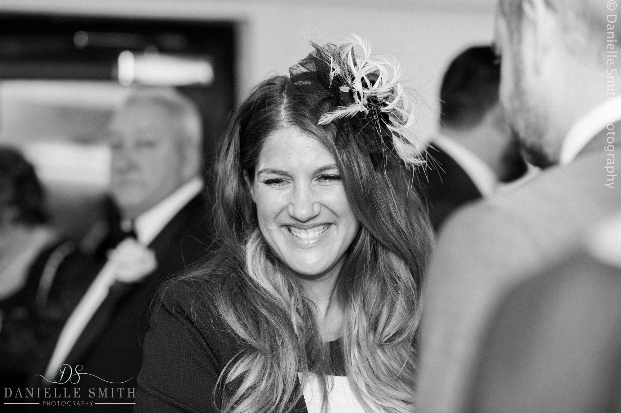 wedding guest smiling - new years eve wedding
