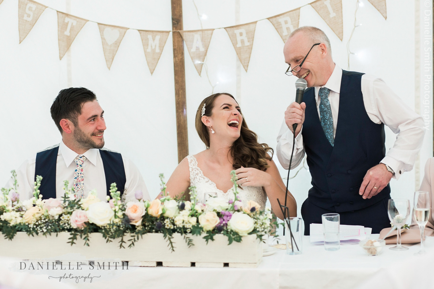 father of the bride speech - pastel coloured spring wedding