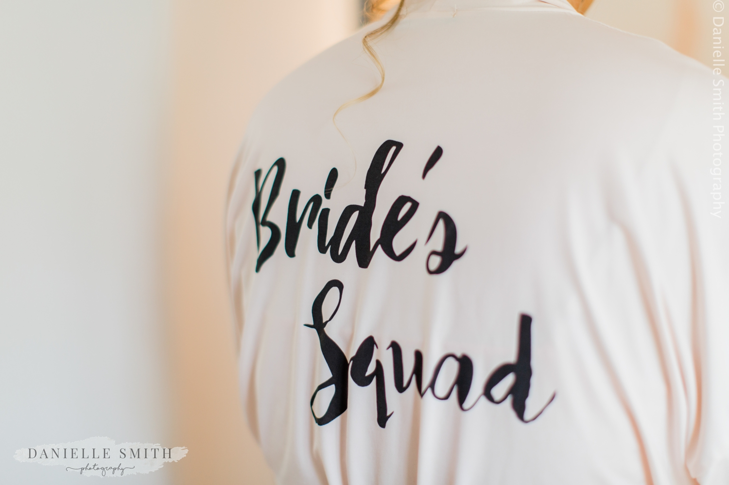 brides squad dressing gown
