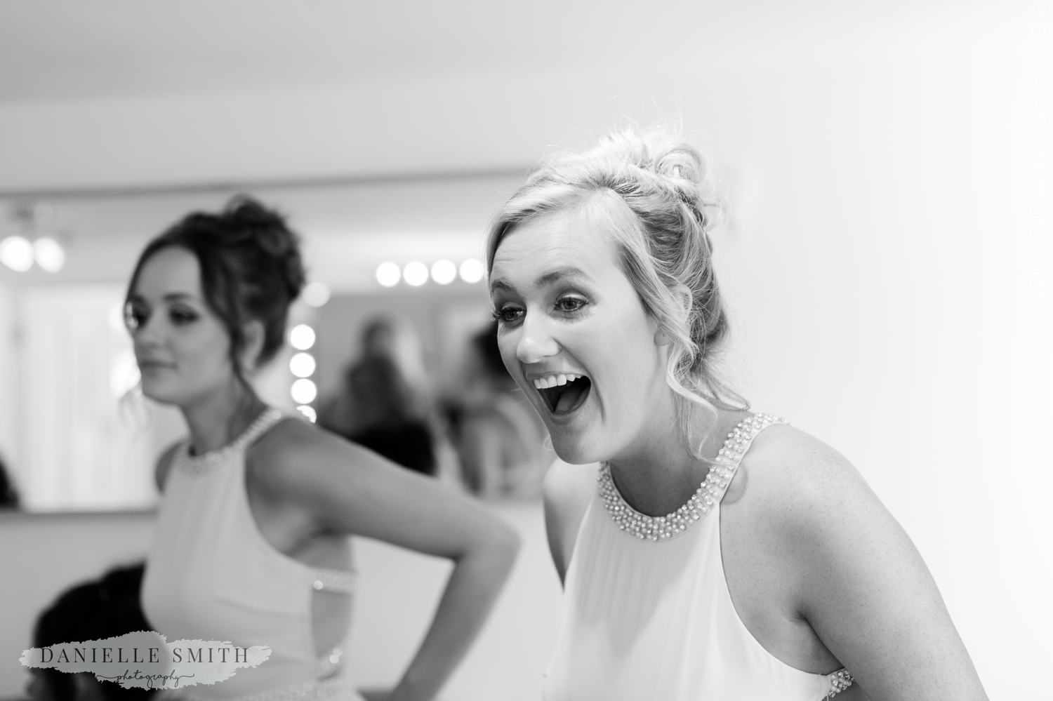 bridesmaid with shocked face