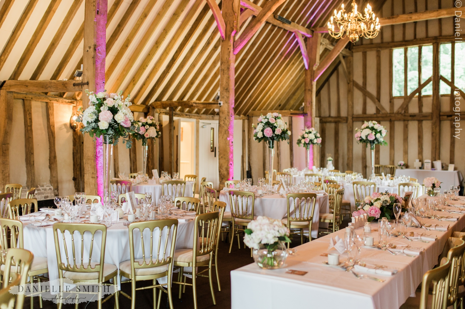 blake hall wedding breakfast room decor