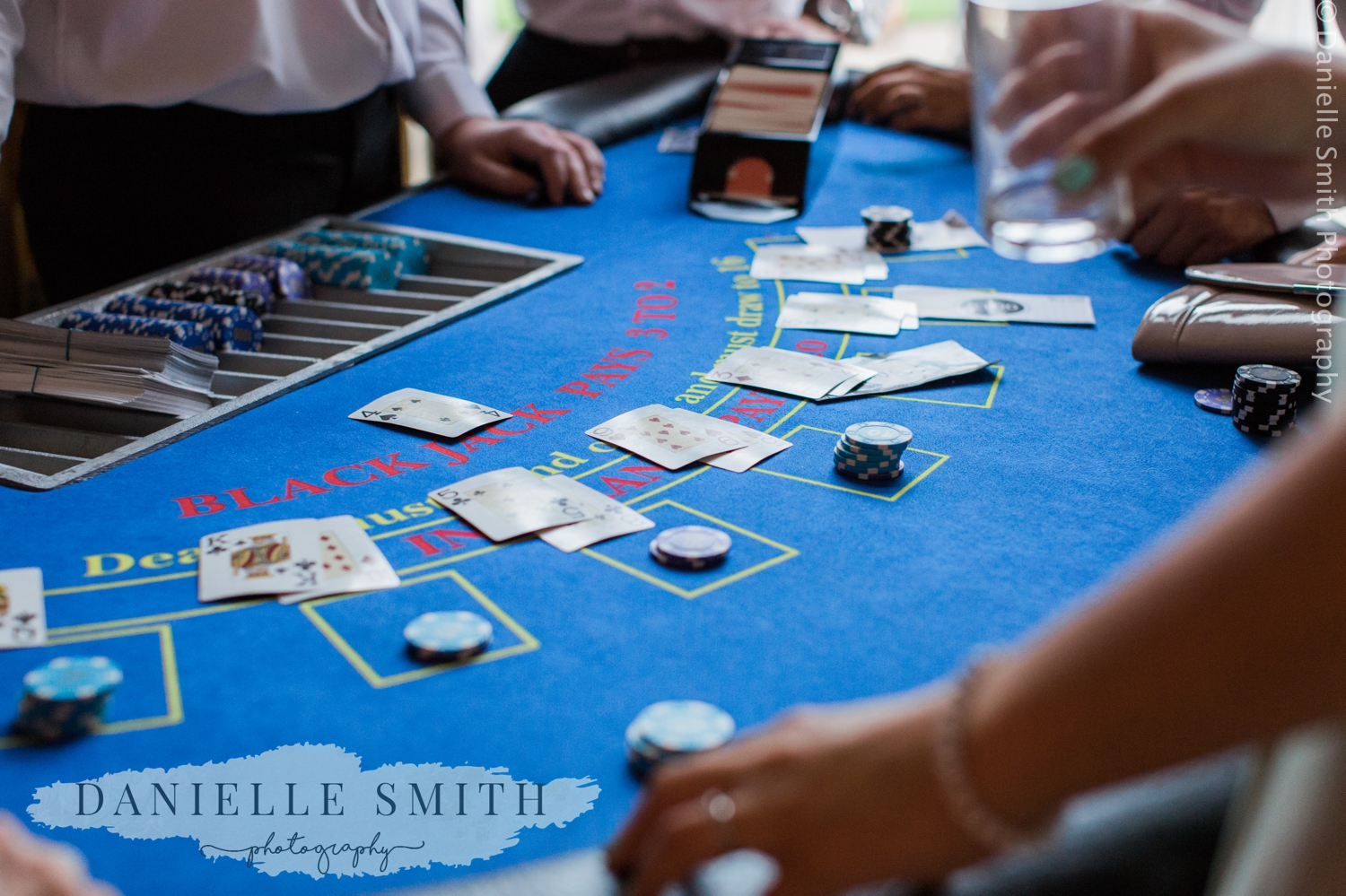 roulette table at wedding