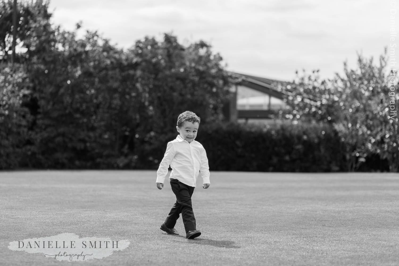 page boy walking