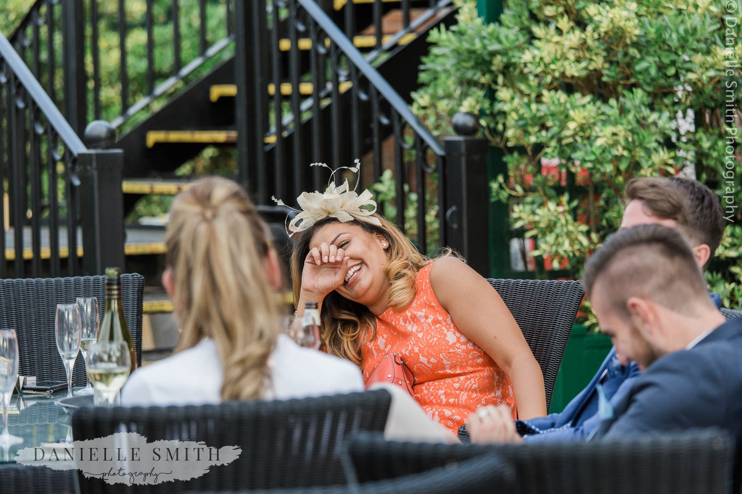 wedding guests laughing at stock brook manor