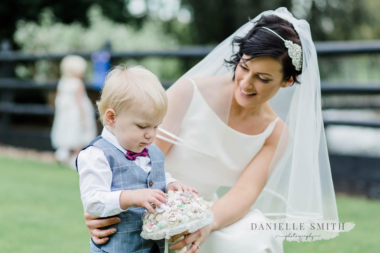 bride with page boy