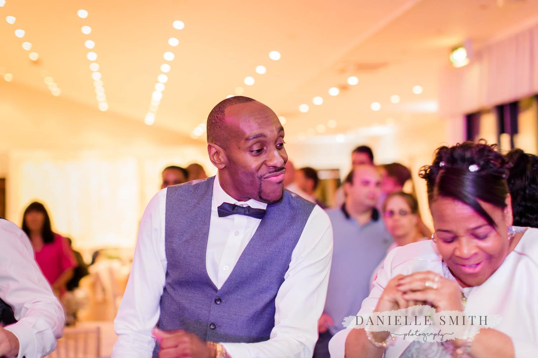 groom dancing with mum - laid back wedding
