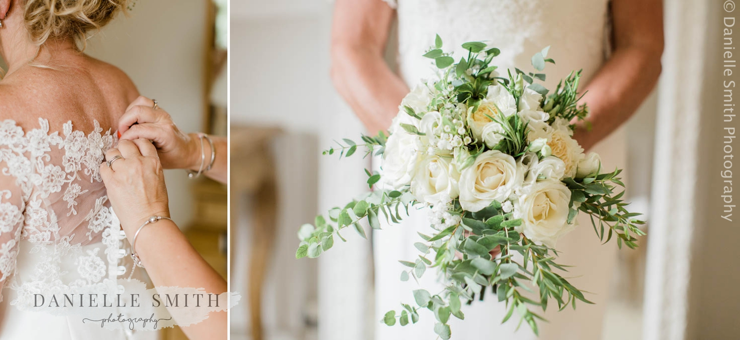 ivory and green rustic wedding bouquet