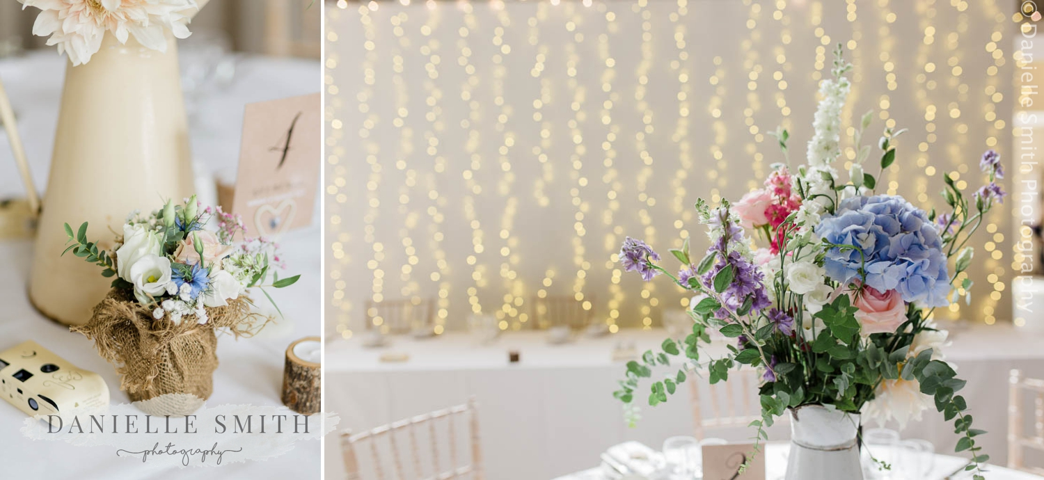 pastel flowers and twinkle lights - houchins