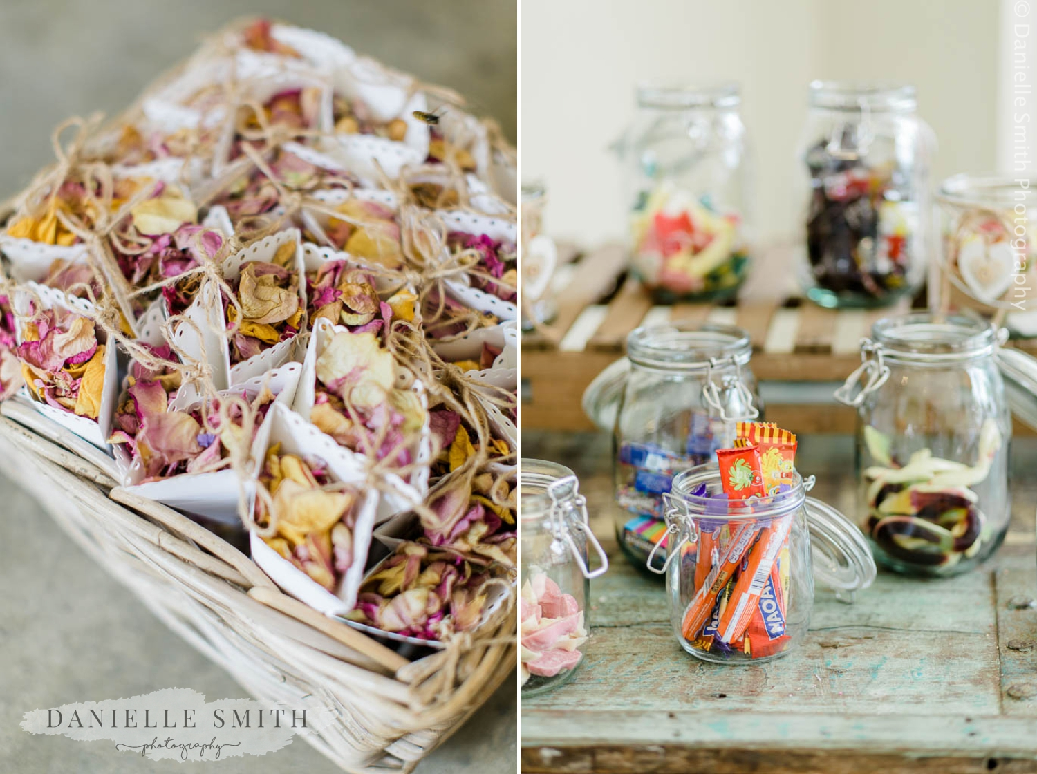 confetti and sweet jars
