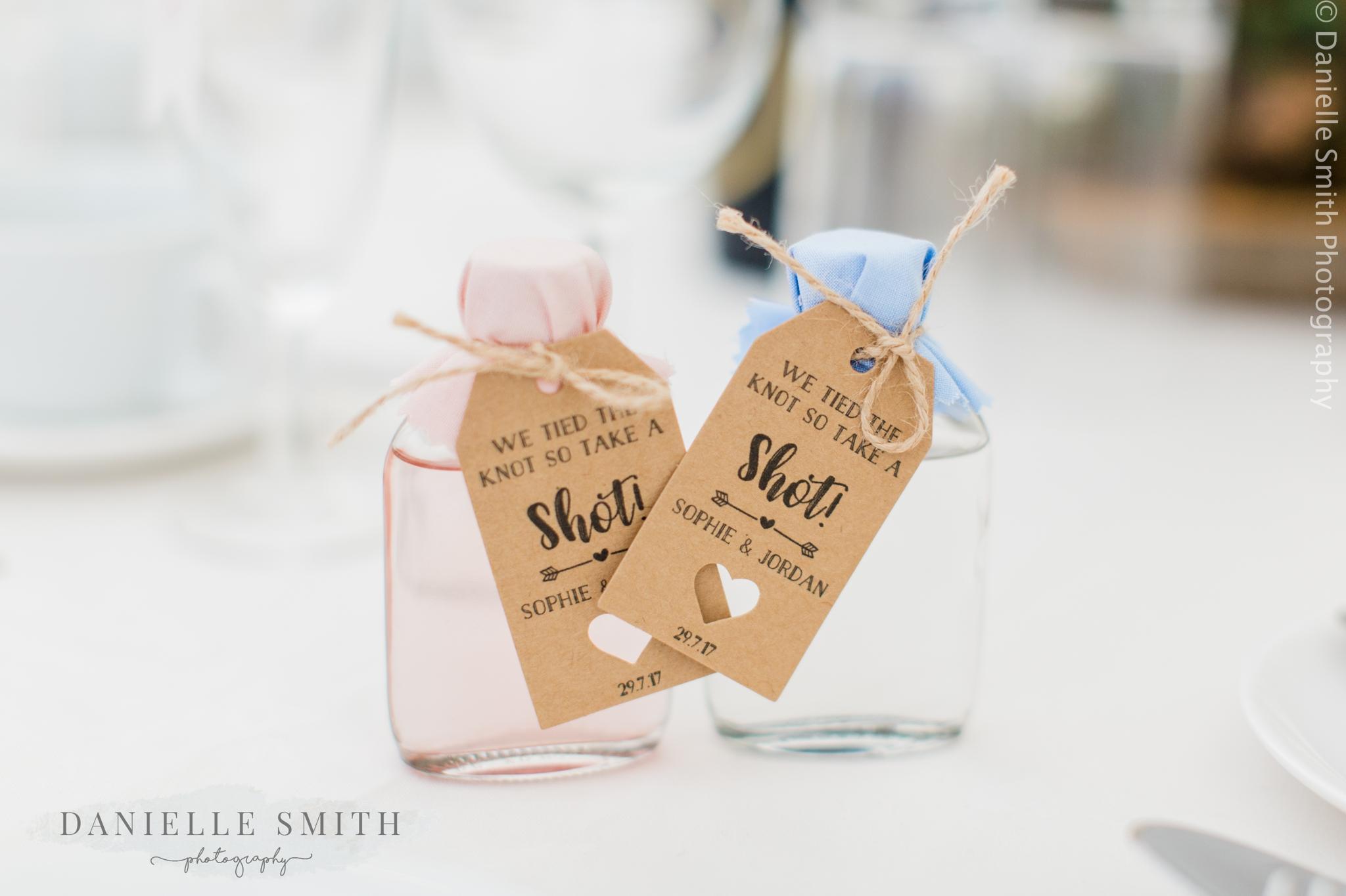 shot wedding favours