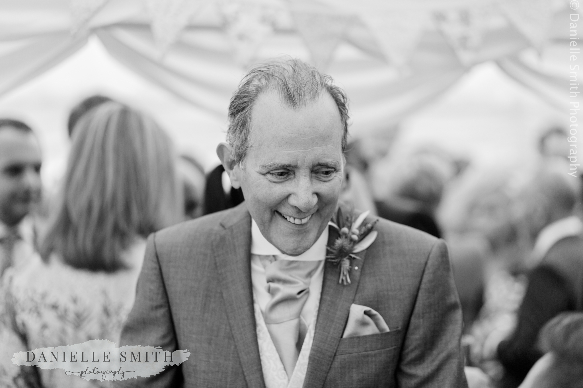 father of bride smiling