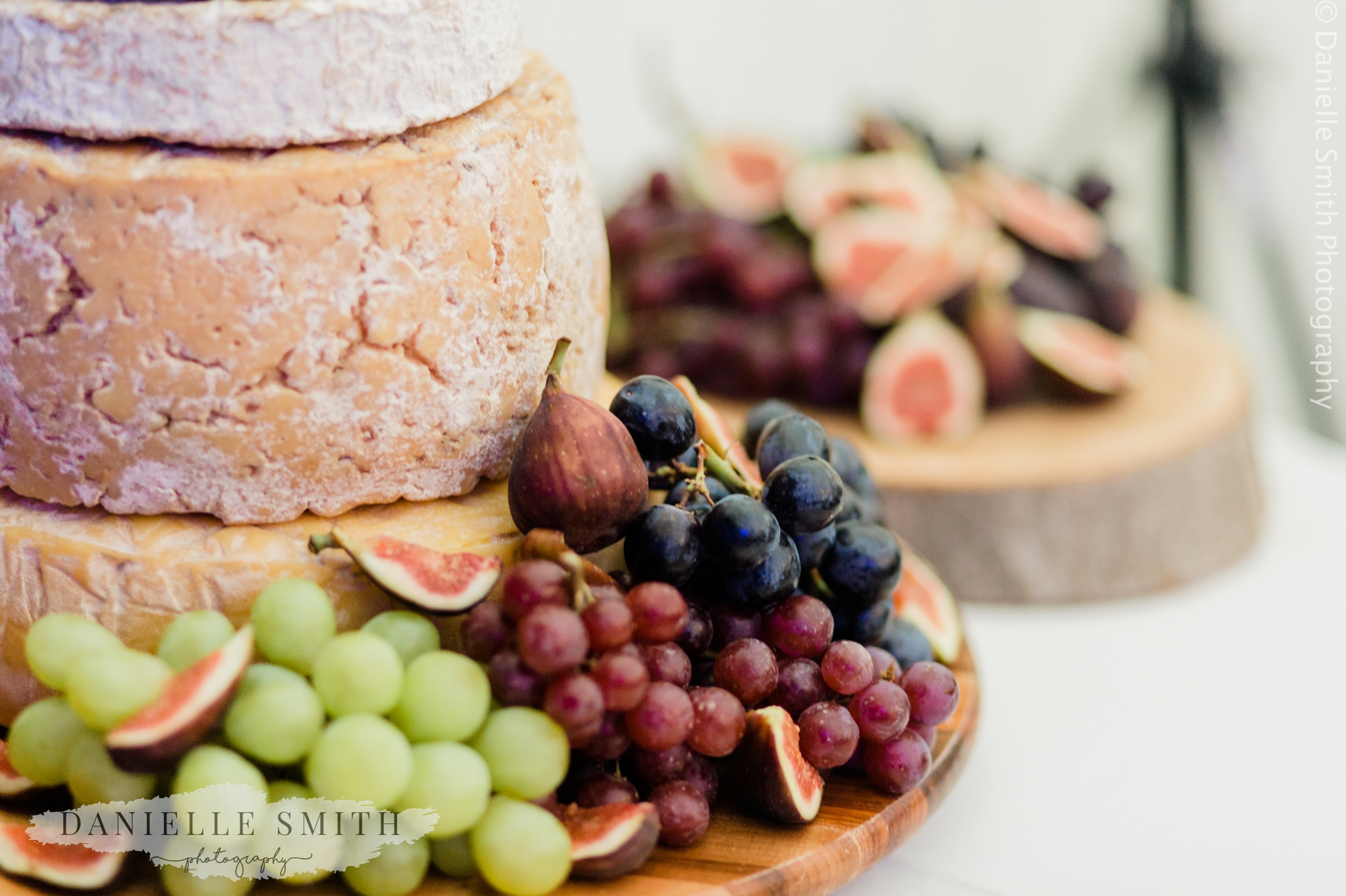 wedding cheese board with grapes
