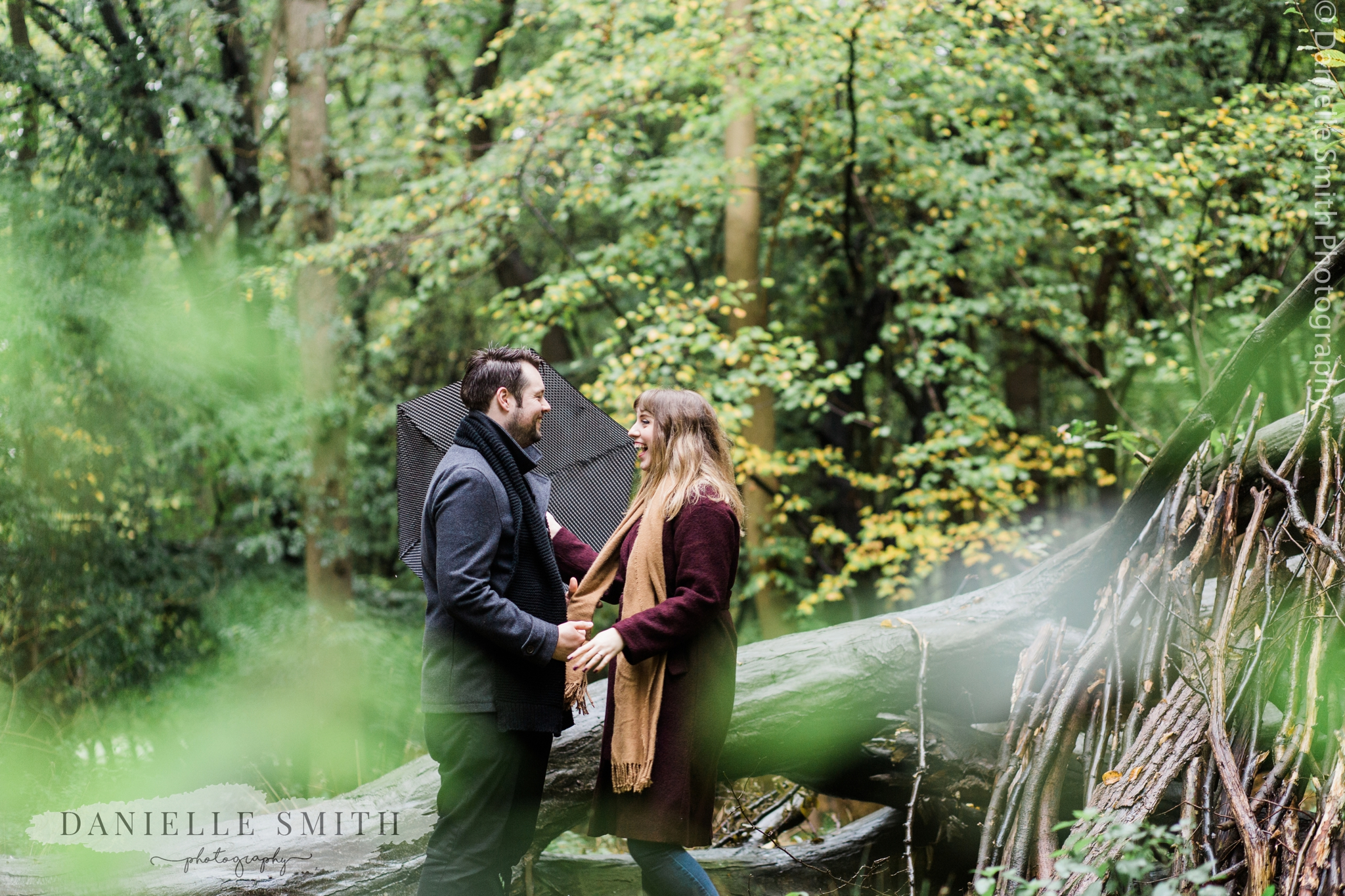 couple laughing- pre-wedding photography essex