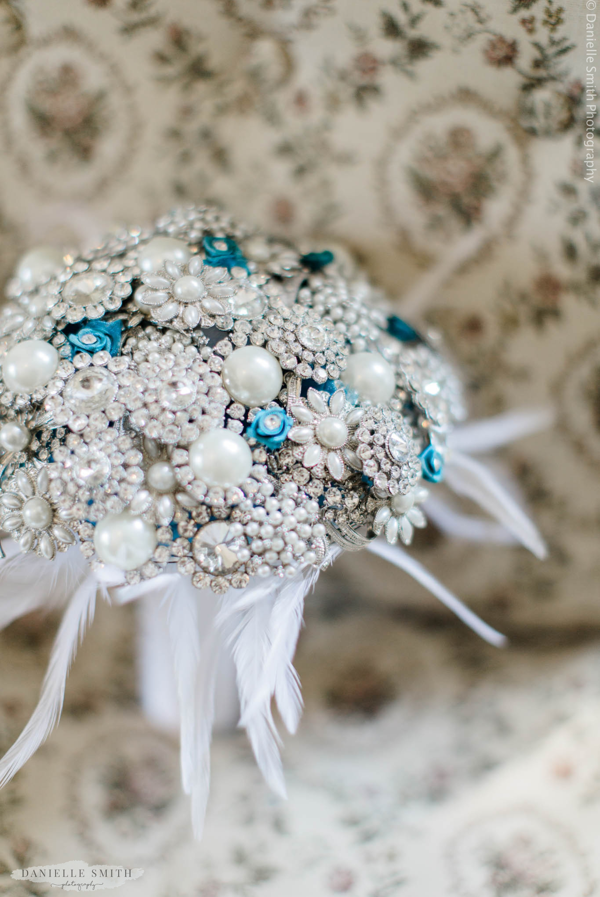 bouquet made of crystals and beading