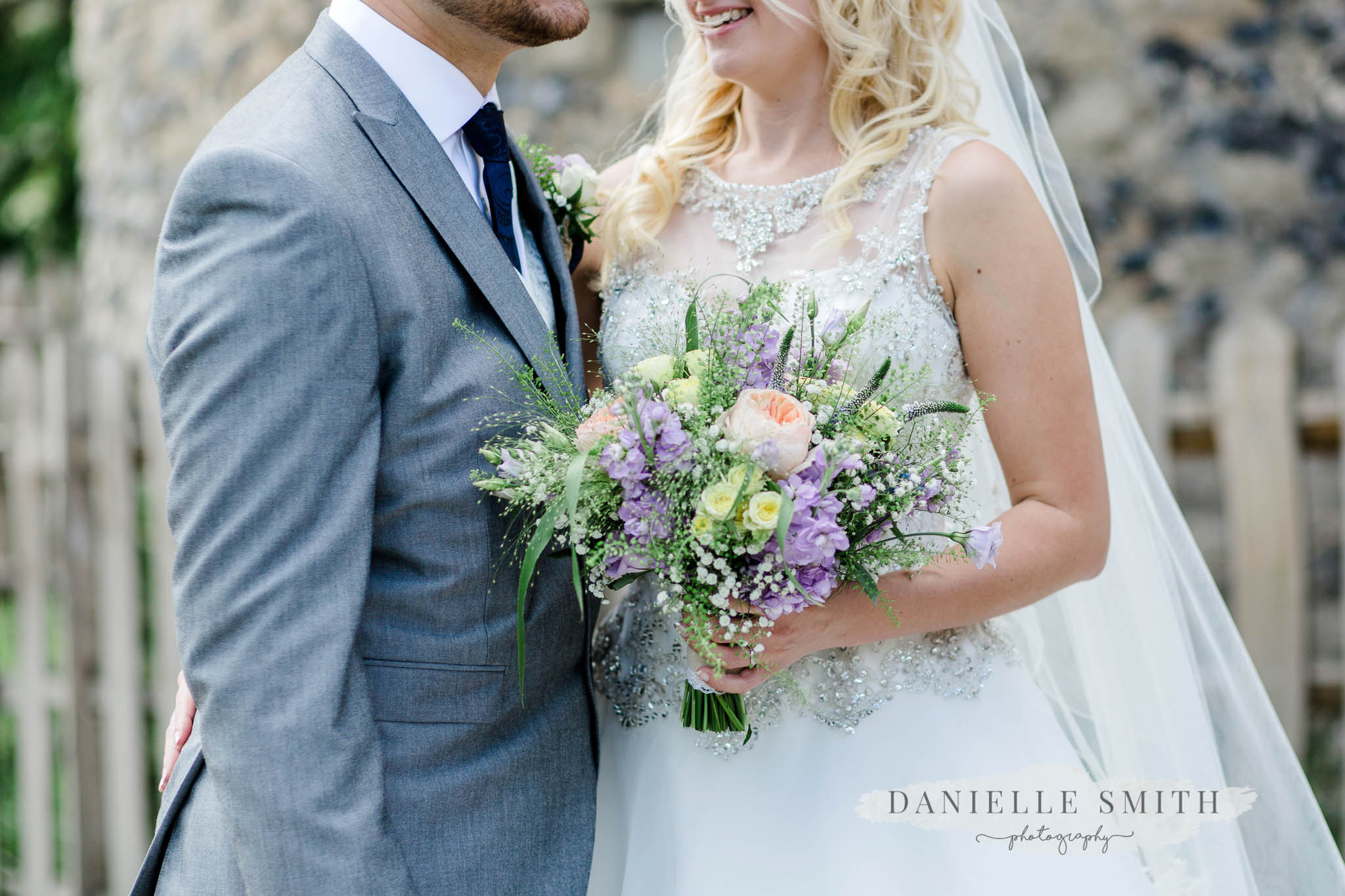 pastel flowers wedding bouquet