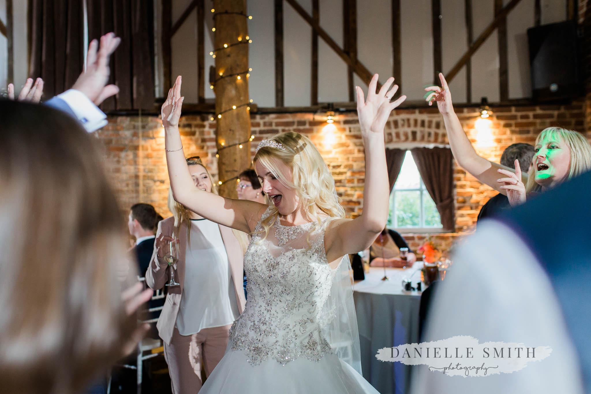 bride dancing at wedding