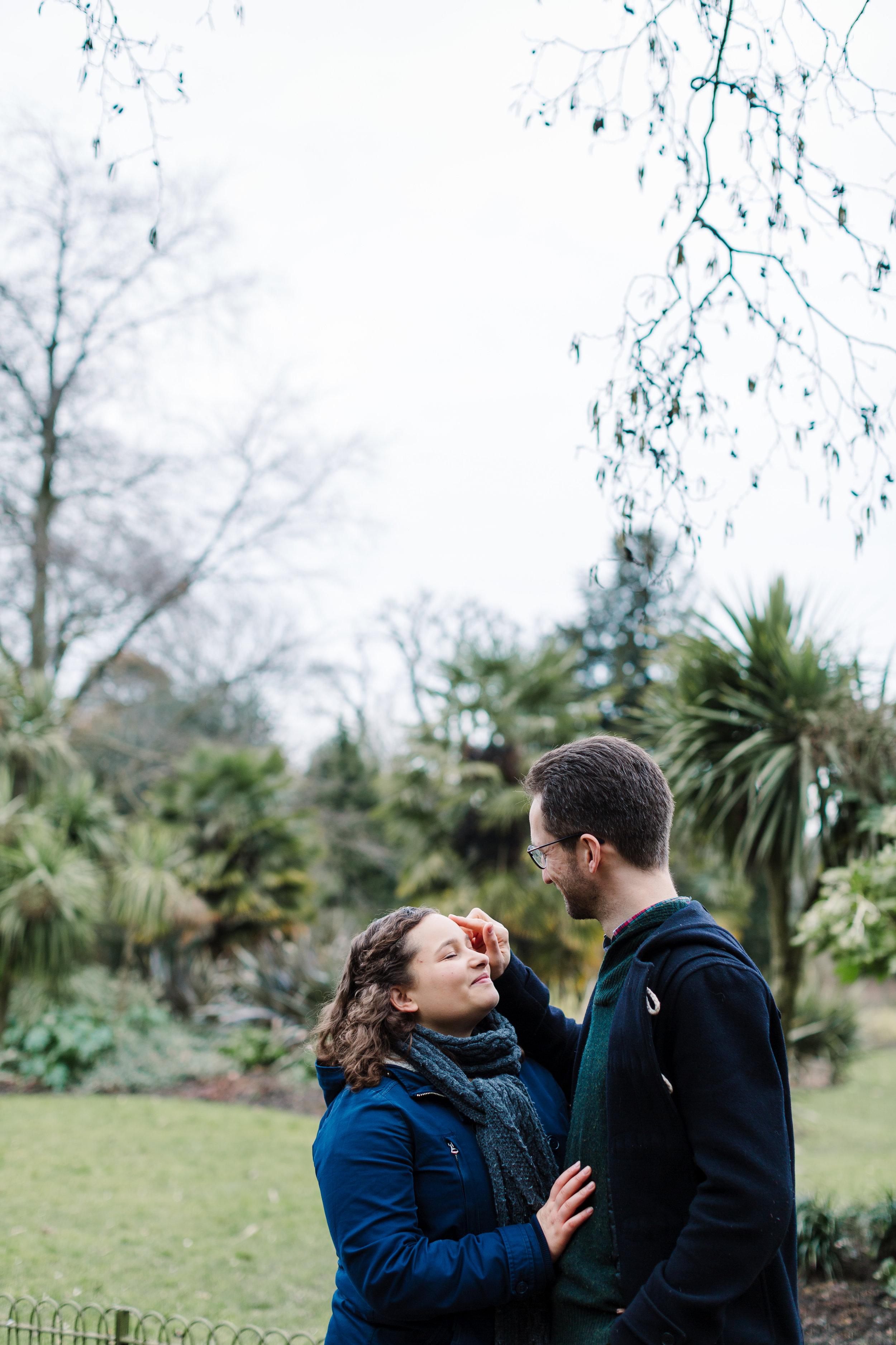 gentle moment between couple