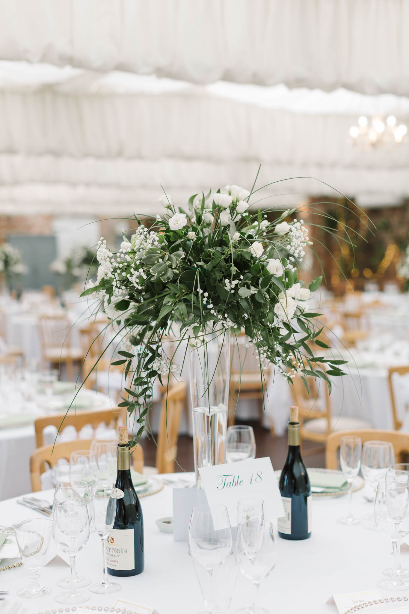 greenery and white flowers table decor for wedding - elegant and stylish wedding