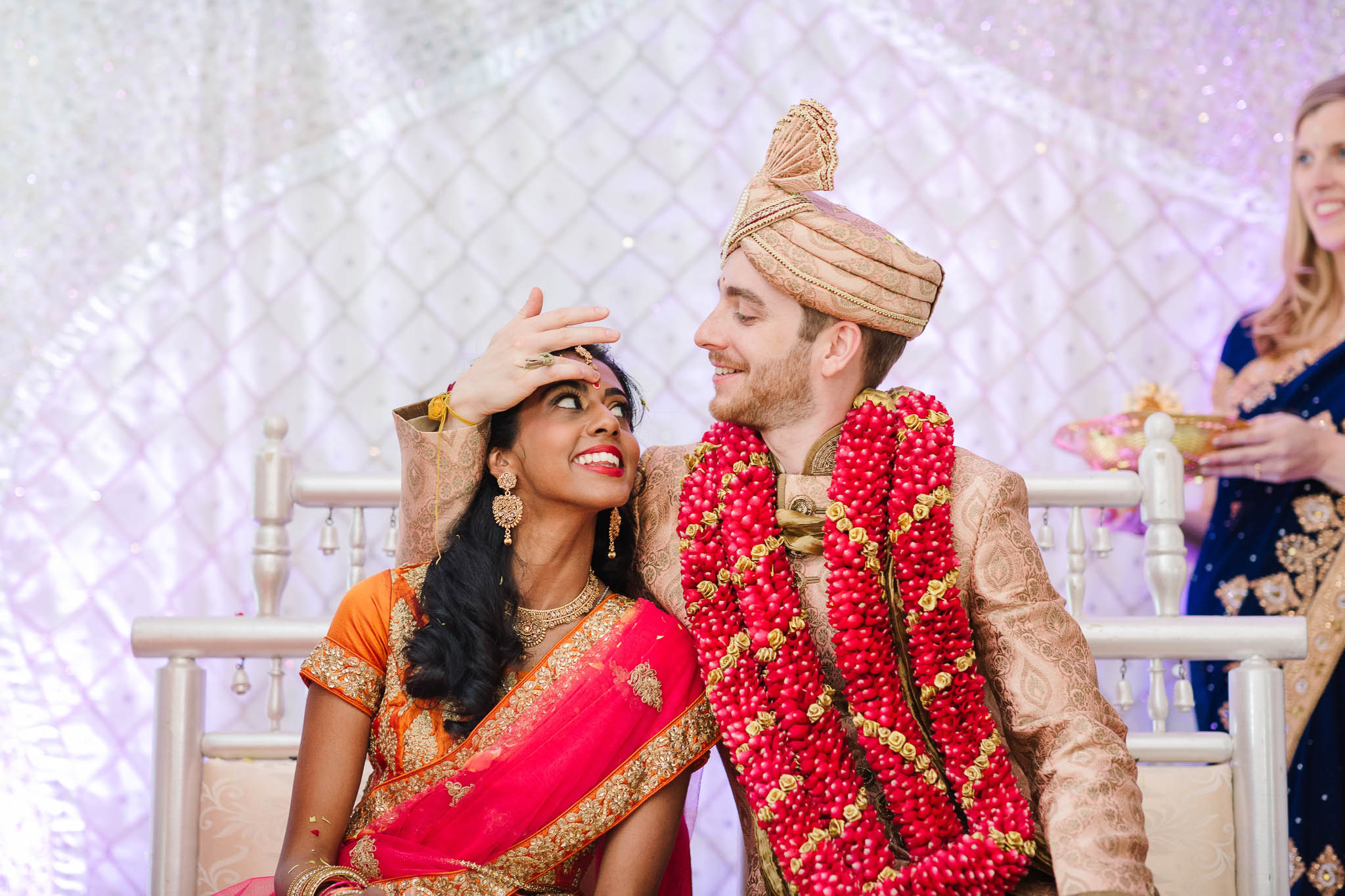 bride and groom at hindu wedding