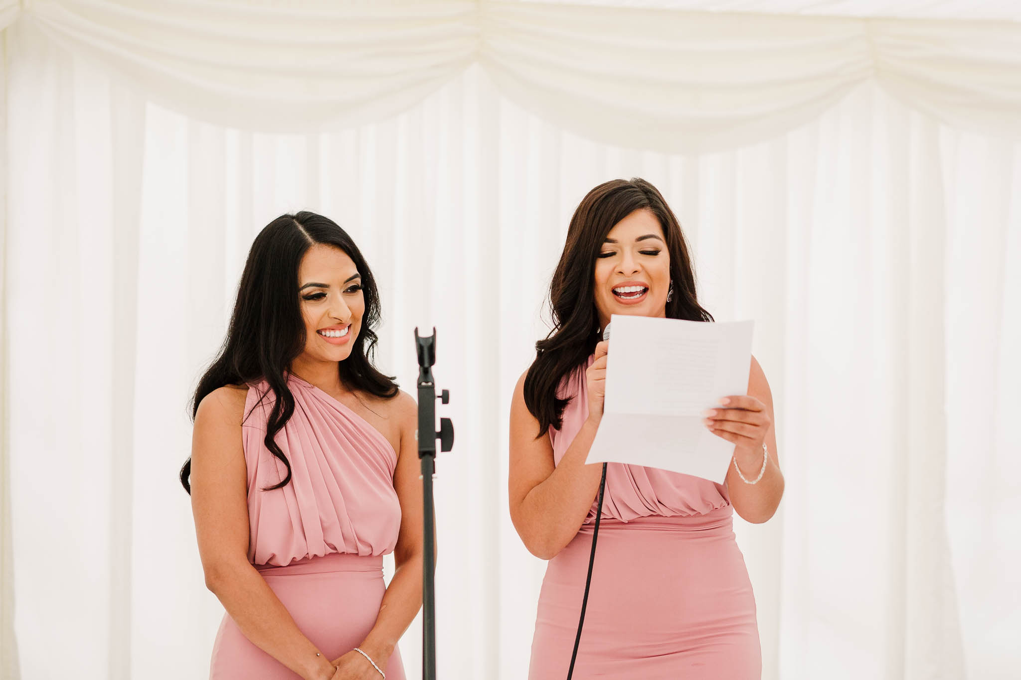 bridesmaids speech at fun and relaxed wedding