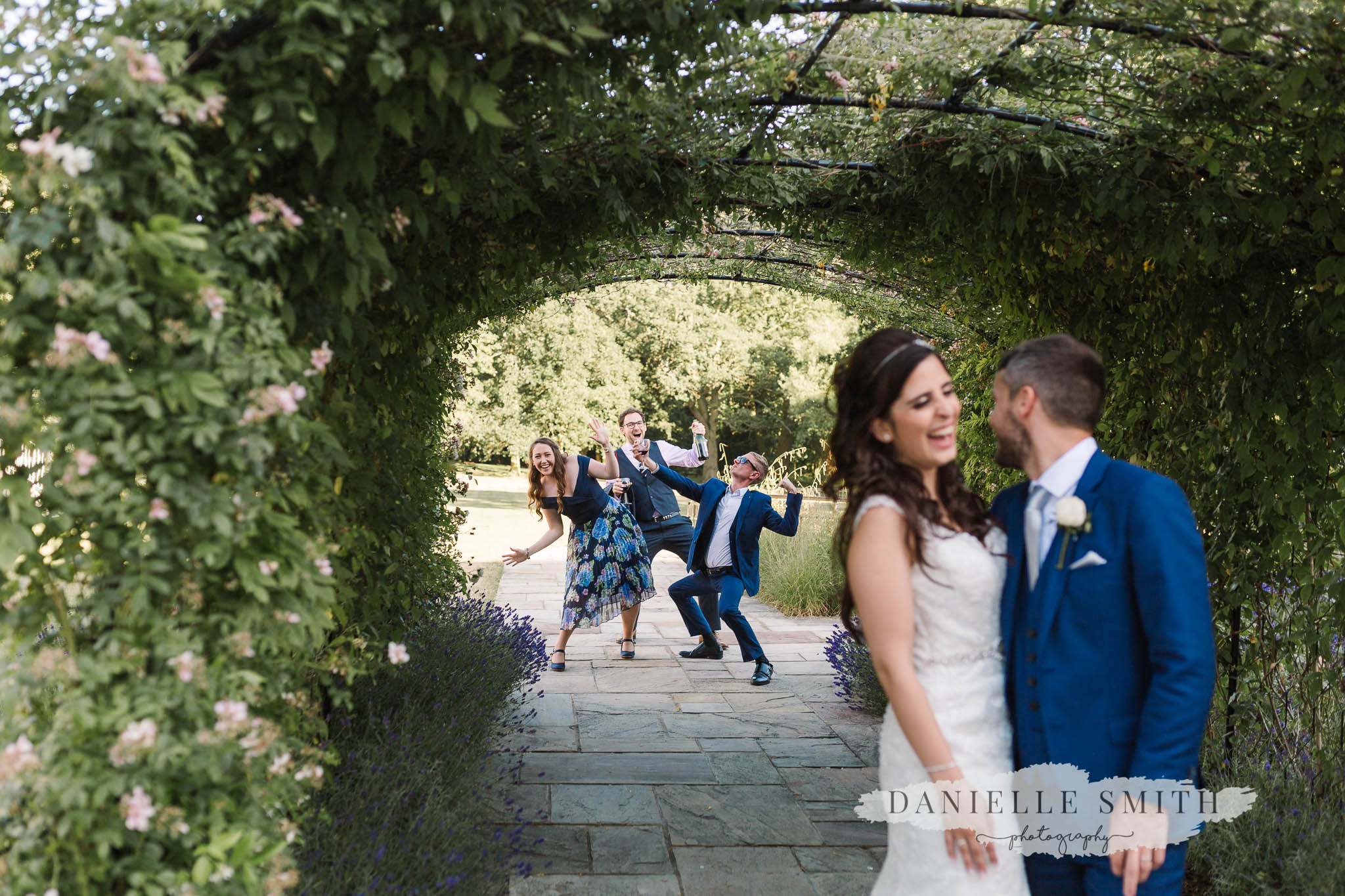 wedding guests photo bombing at sopwell house