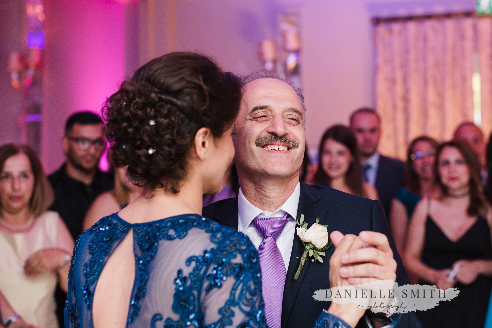 turkish parents dancing together