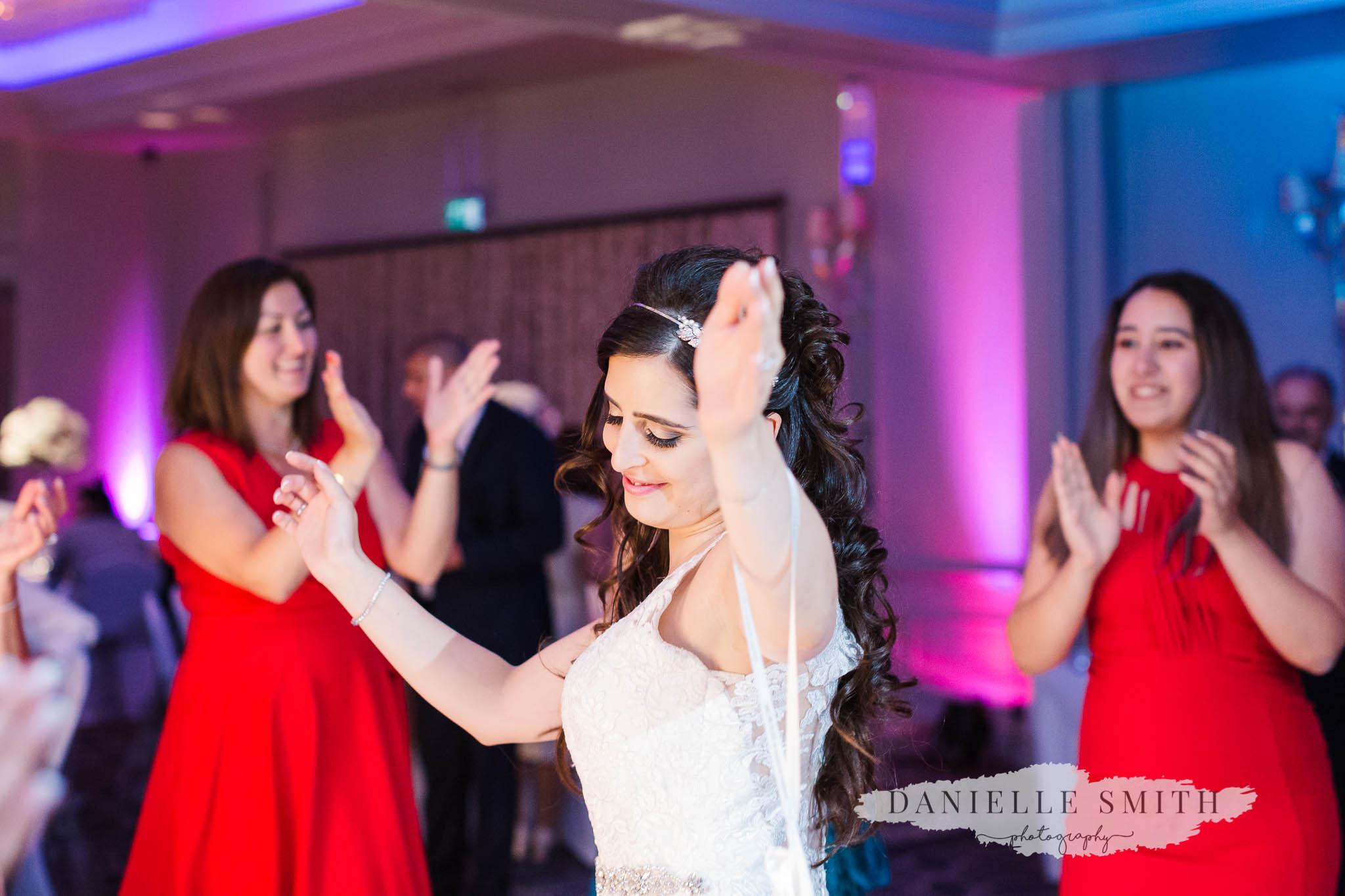 bride doing turkish dancing