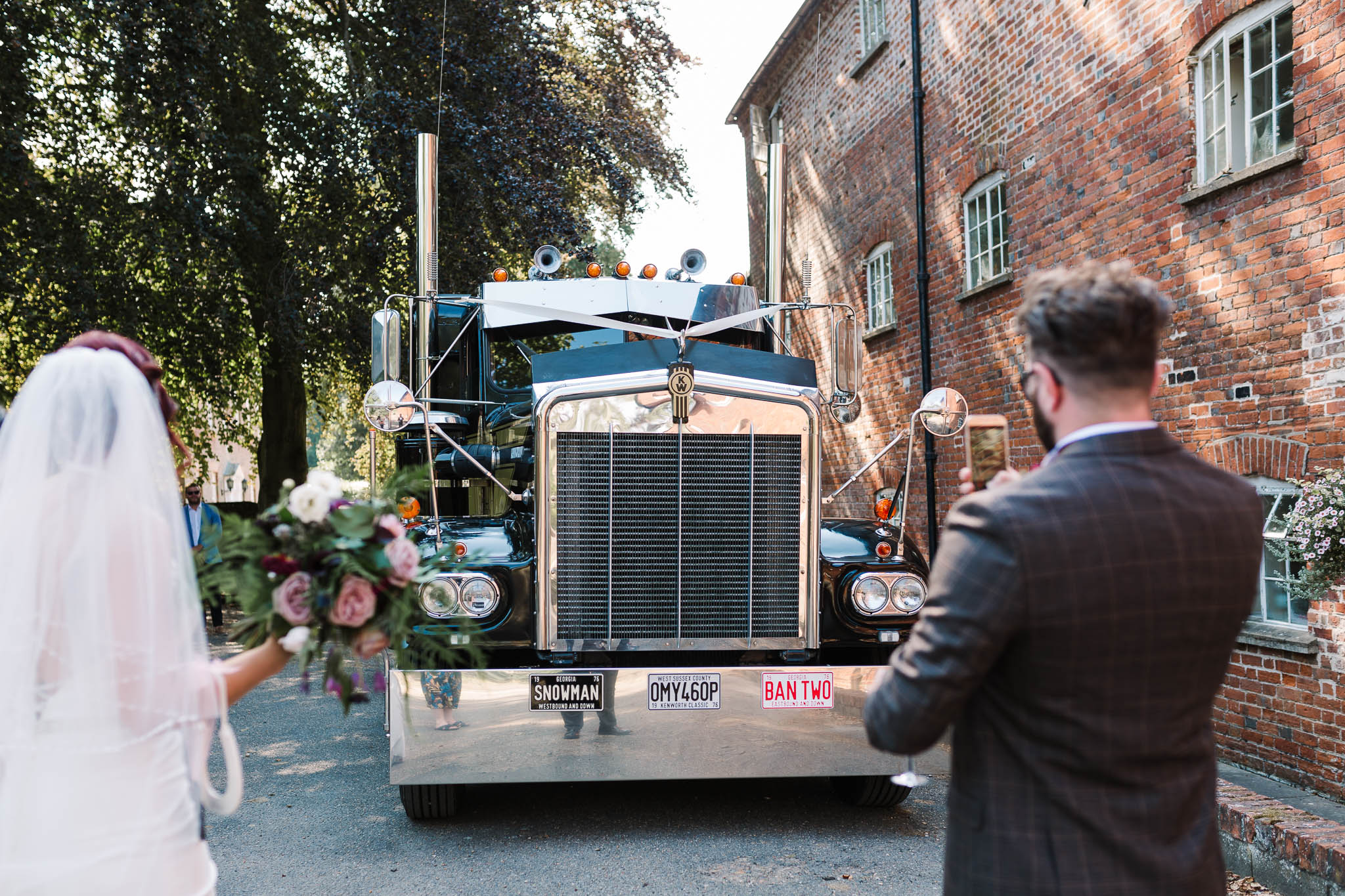 big rig truck at wedding