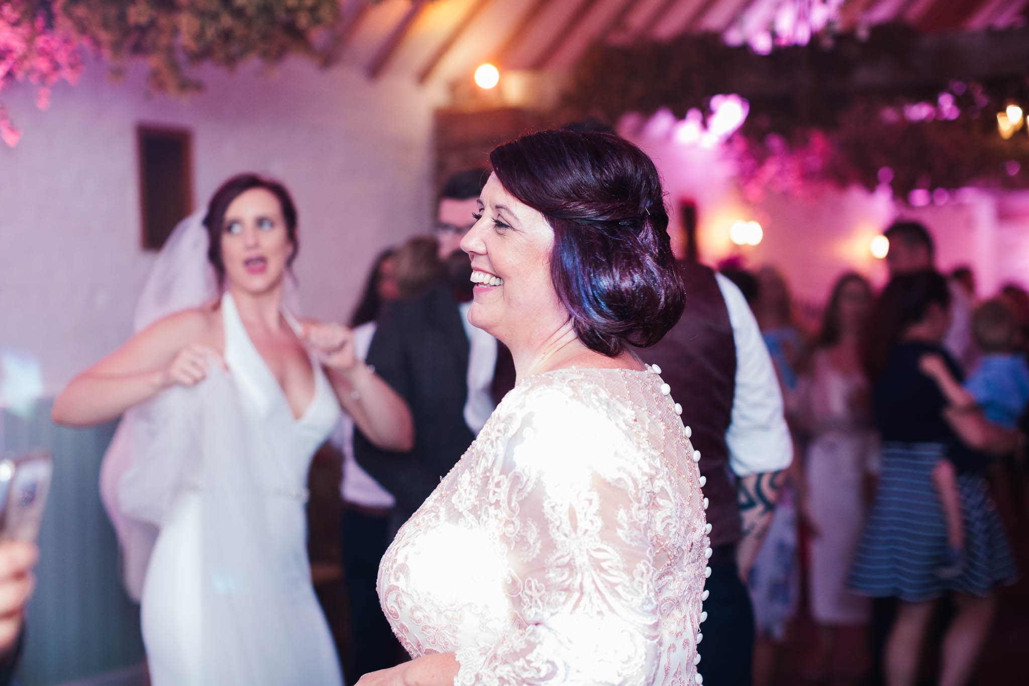 bride mum dancing at wedding