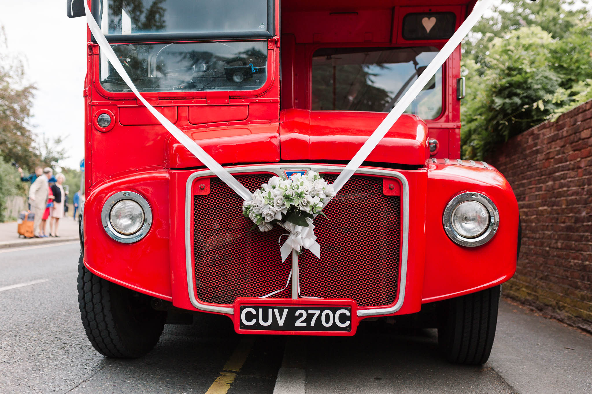 red london bus - elegant london wedding