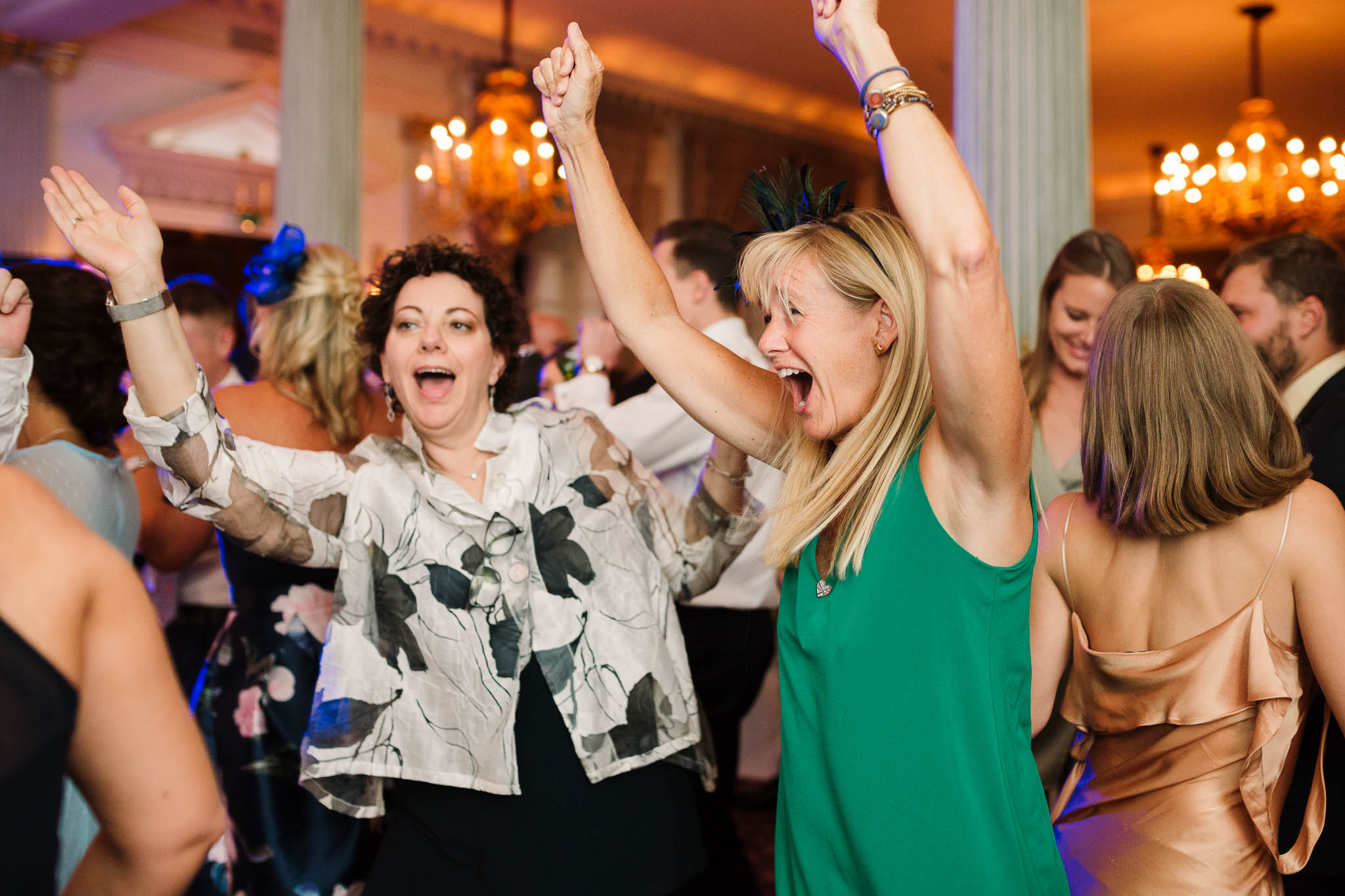 wedding guests dancing - Elegant London Wedding at the Royal Automobile Club