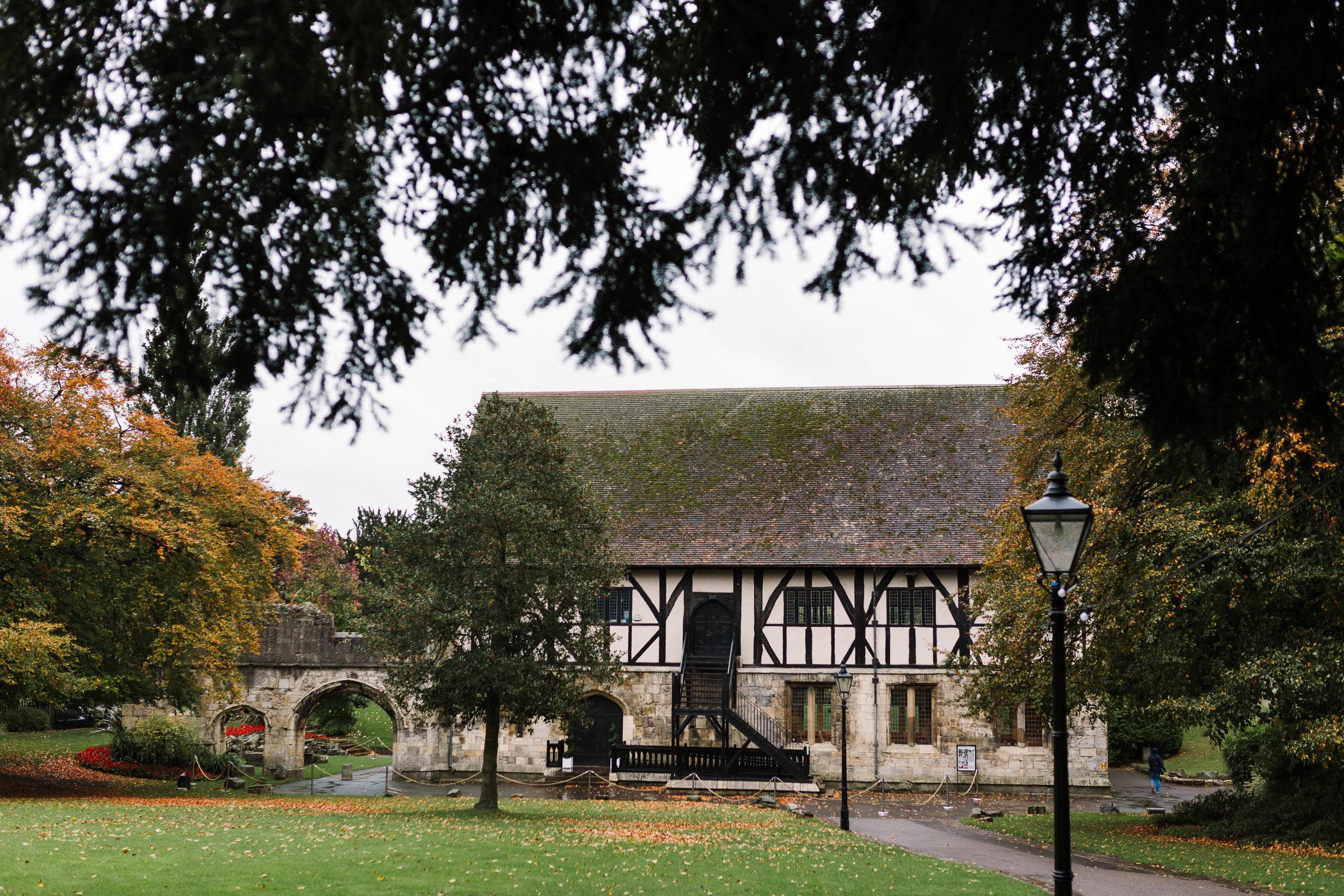 The Hospitium, York in autumn