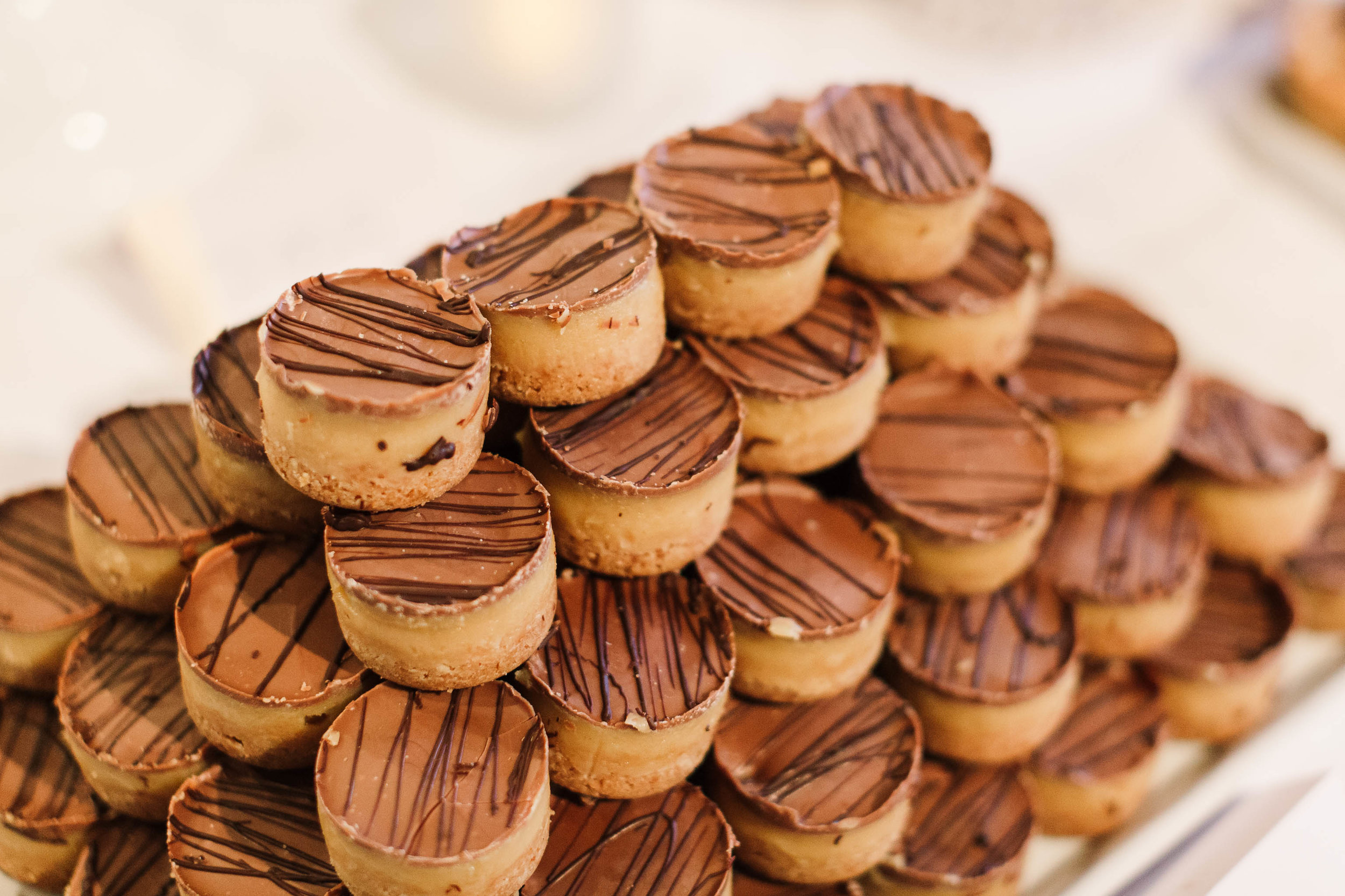 millionaires shortbreads at wedding