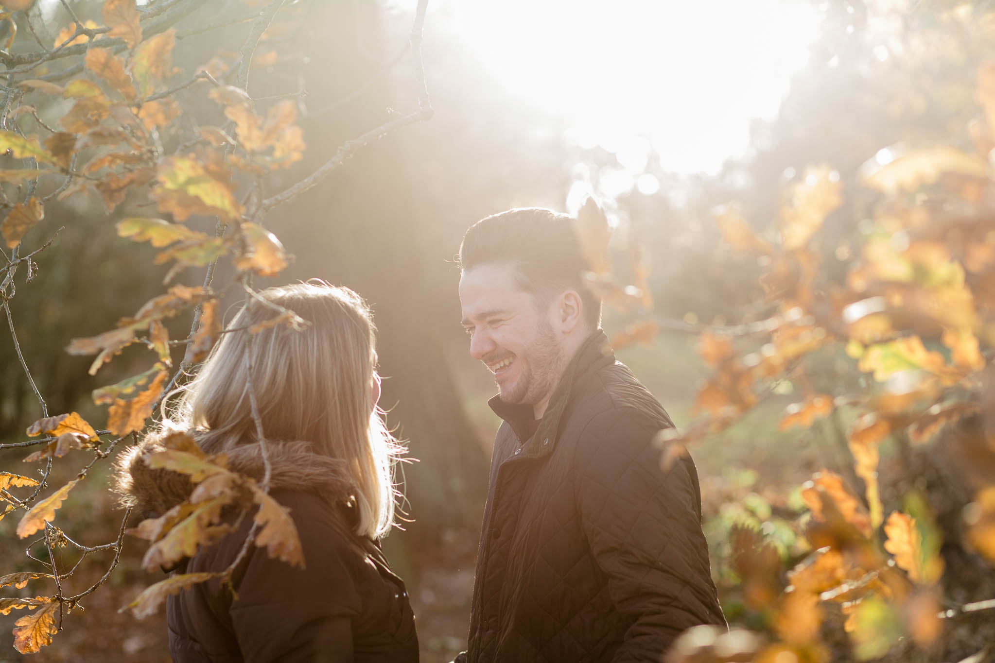 Autumn pre-wedding photo shoot in essex