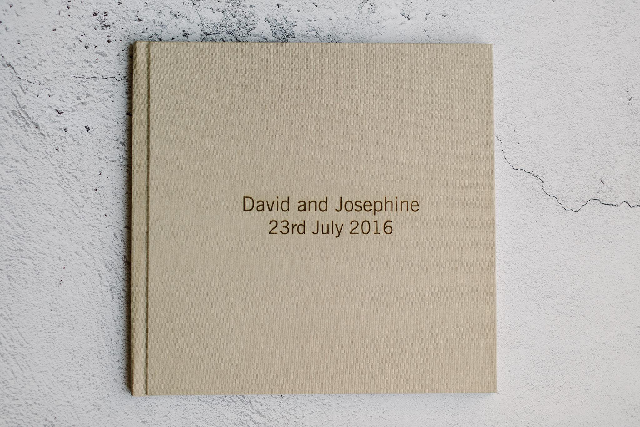 signing book for pre-wedding photos