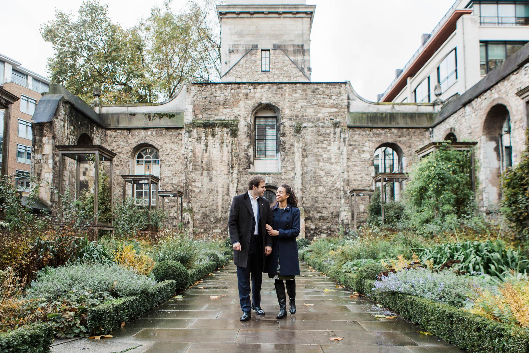 Photo shoot in london gardens