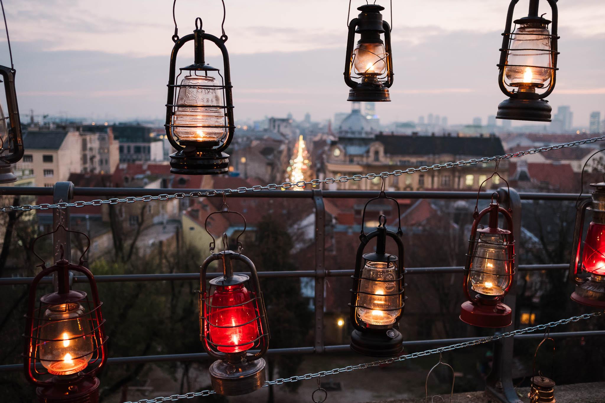 lanterns in zagreb