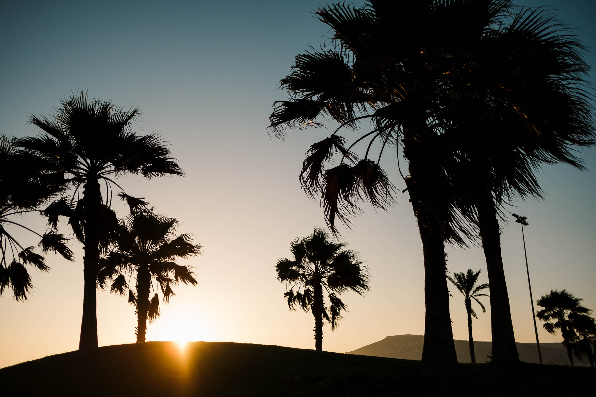 sunset in Agadir