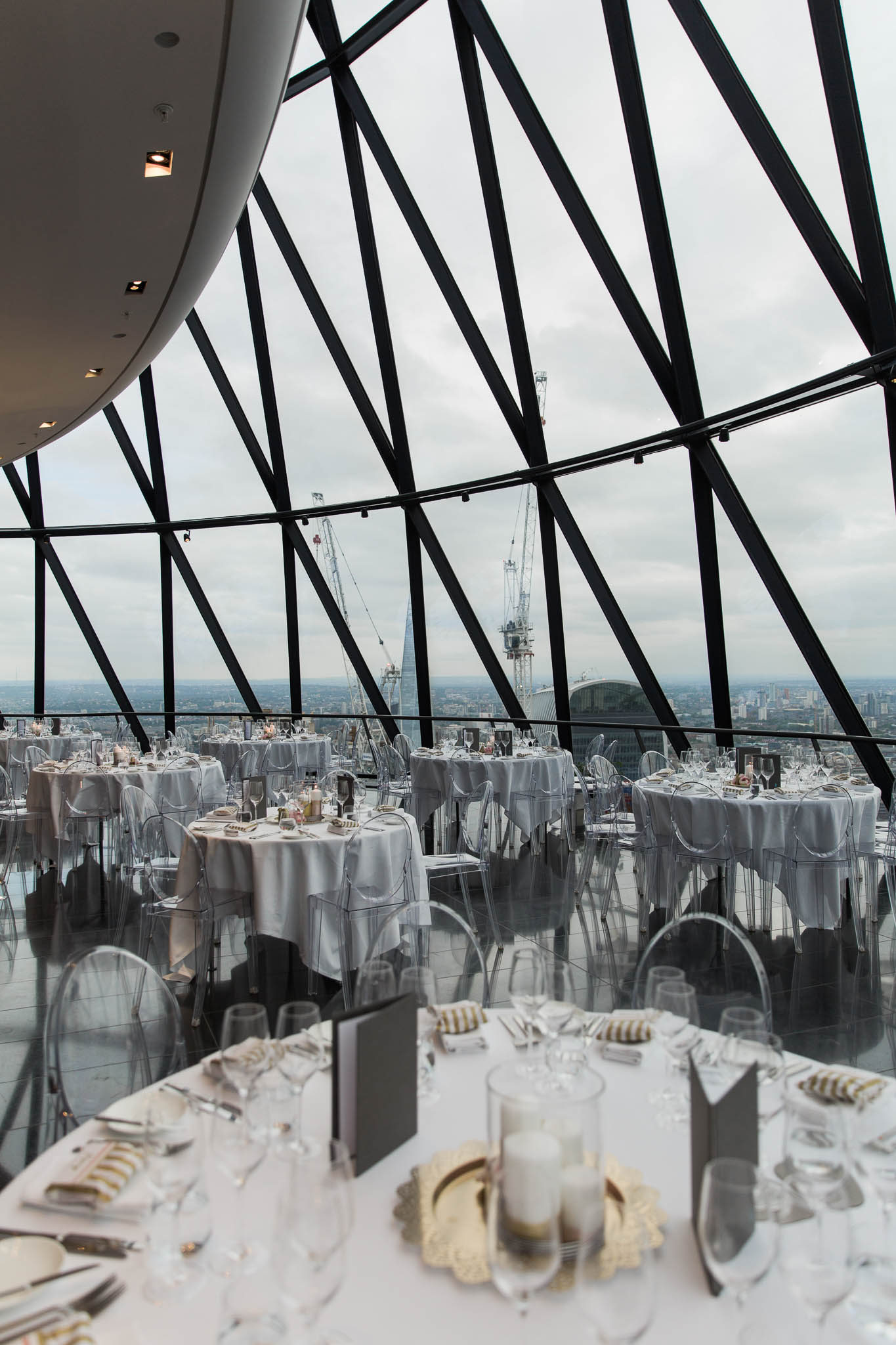 Searcy's at the Gherkin Wedding Reception- Image by me- See full wedding gallery at  The Gherkin Here
