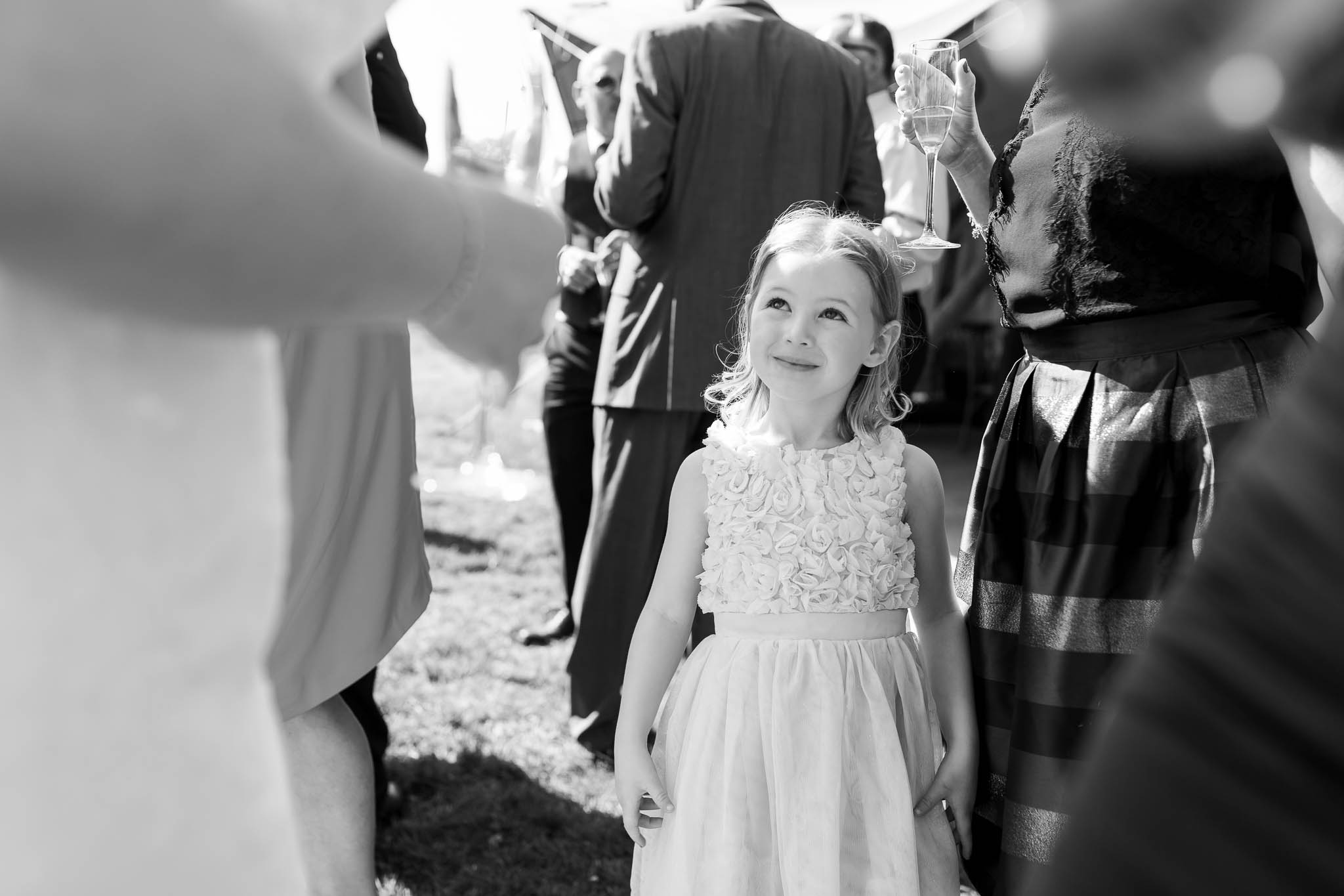 little girl at tipi wedding