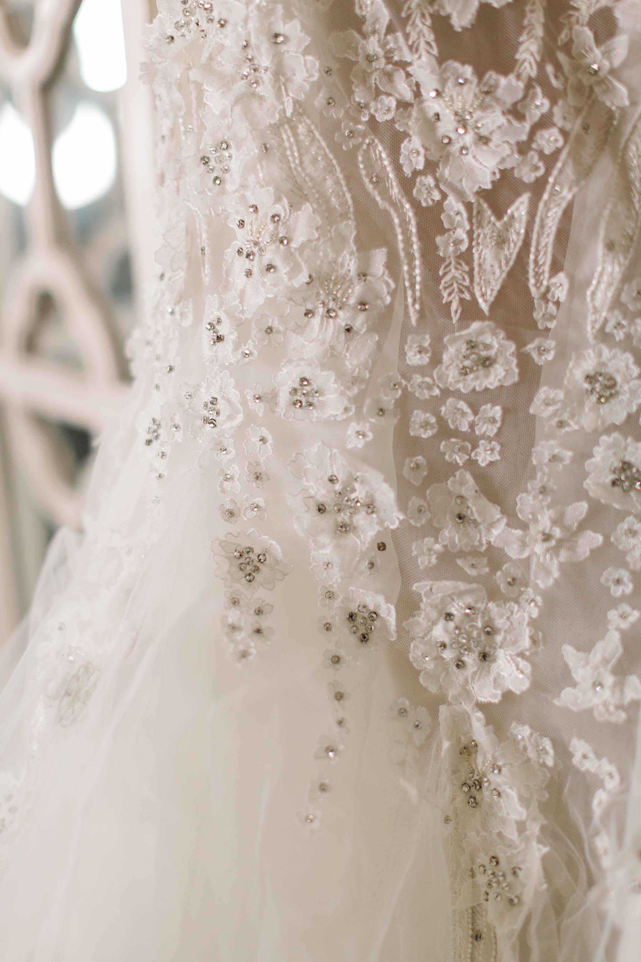 pronovias dress detailing