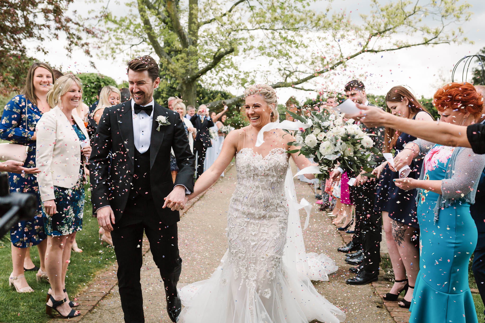 confetti photo at gaynes park