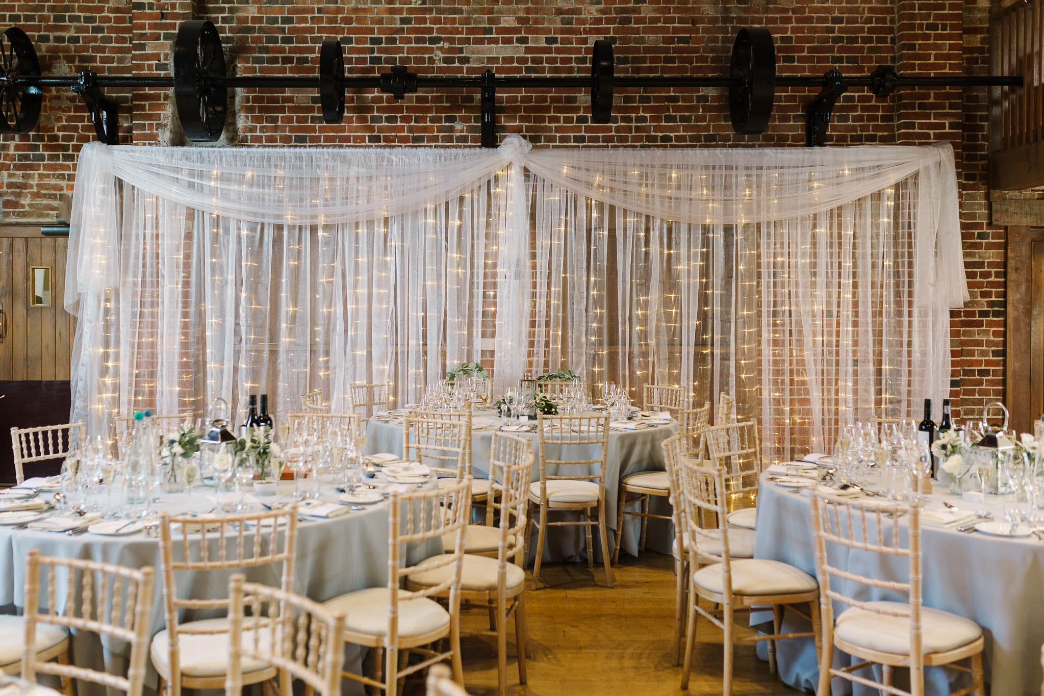 reception barn at gaynes park