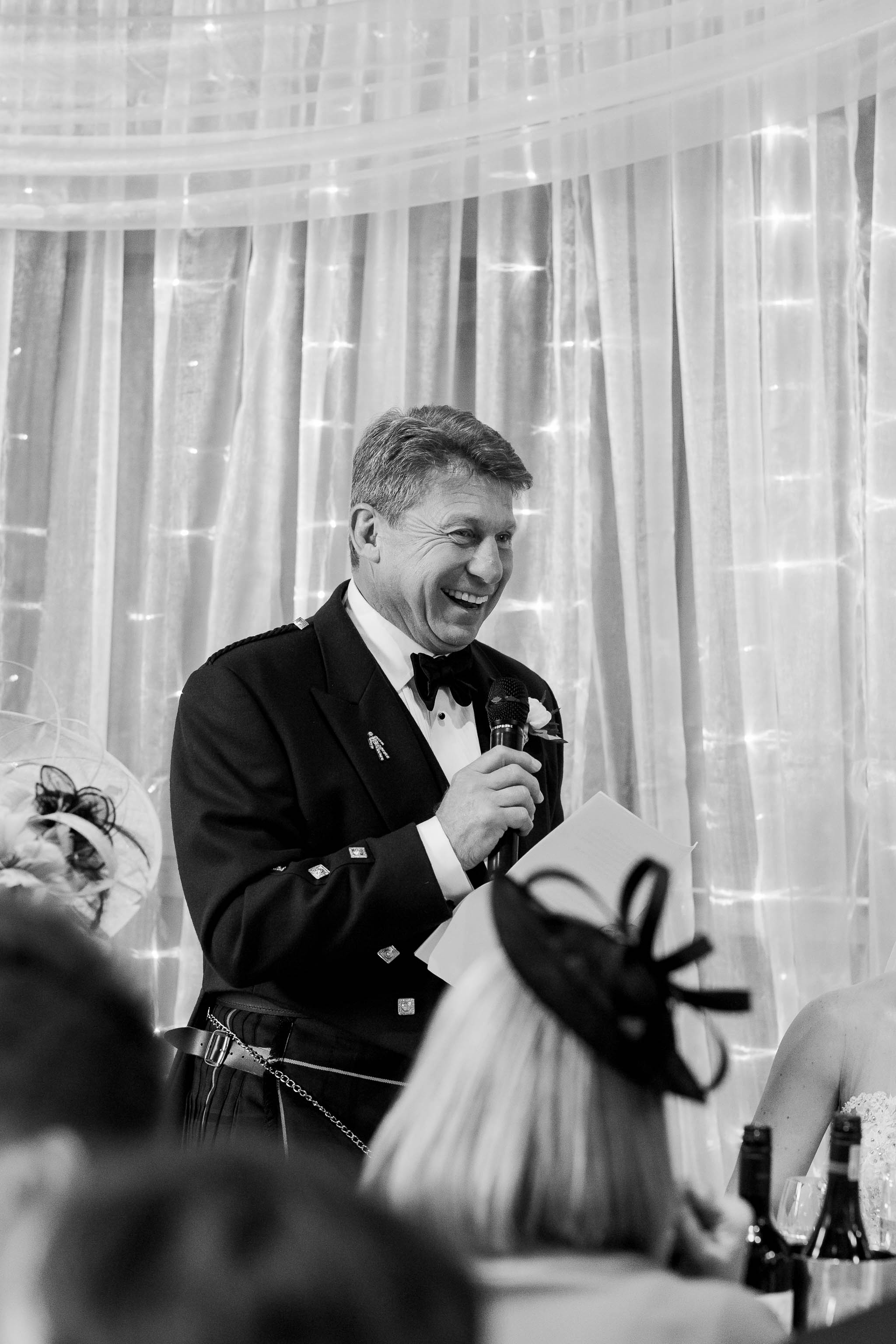 scottish father of the bride giving speech