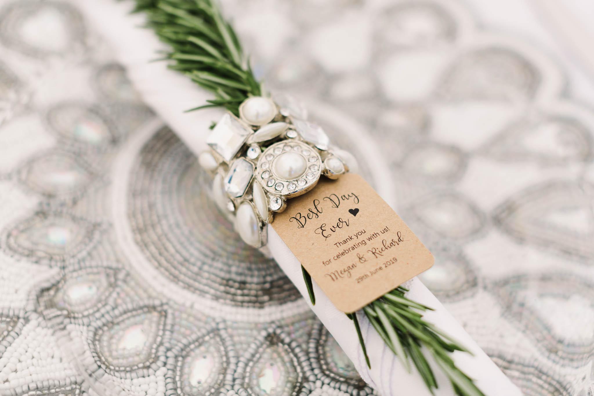 silver vintage napkin rings