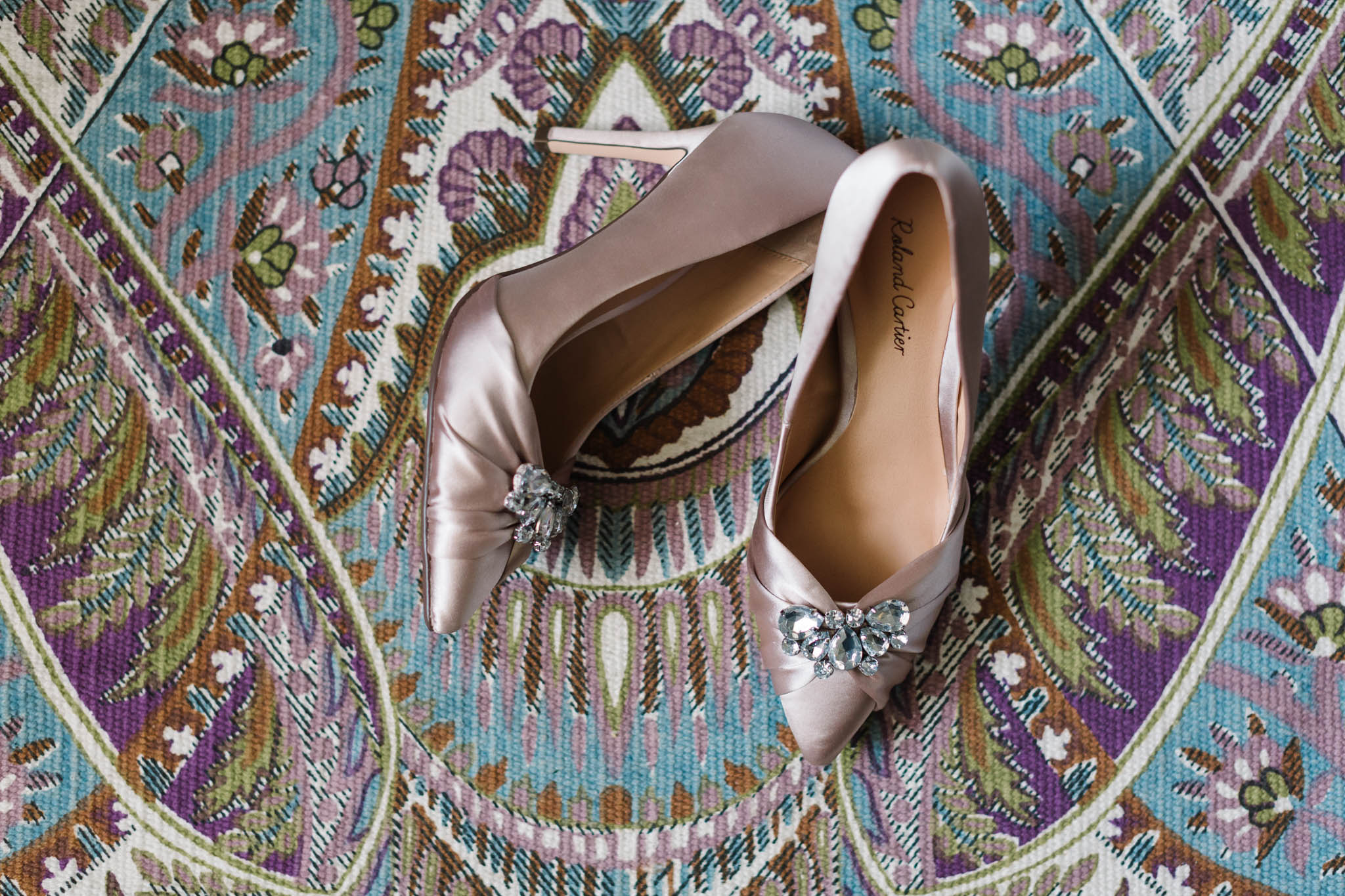 blush pink roland cartier wedding shoes