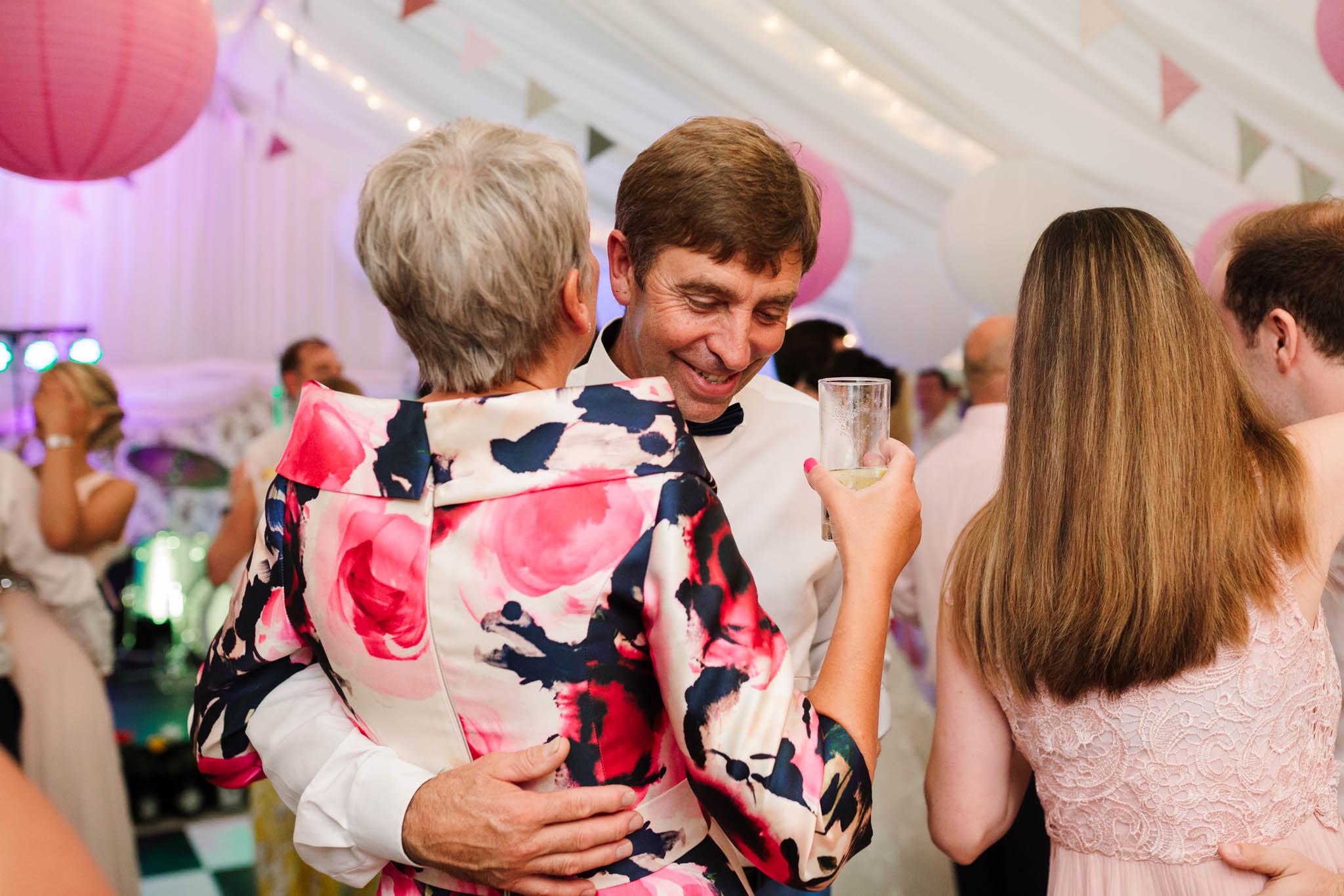 parents dancing at wedding